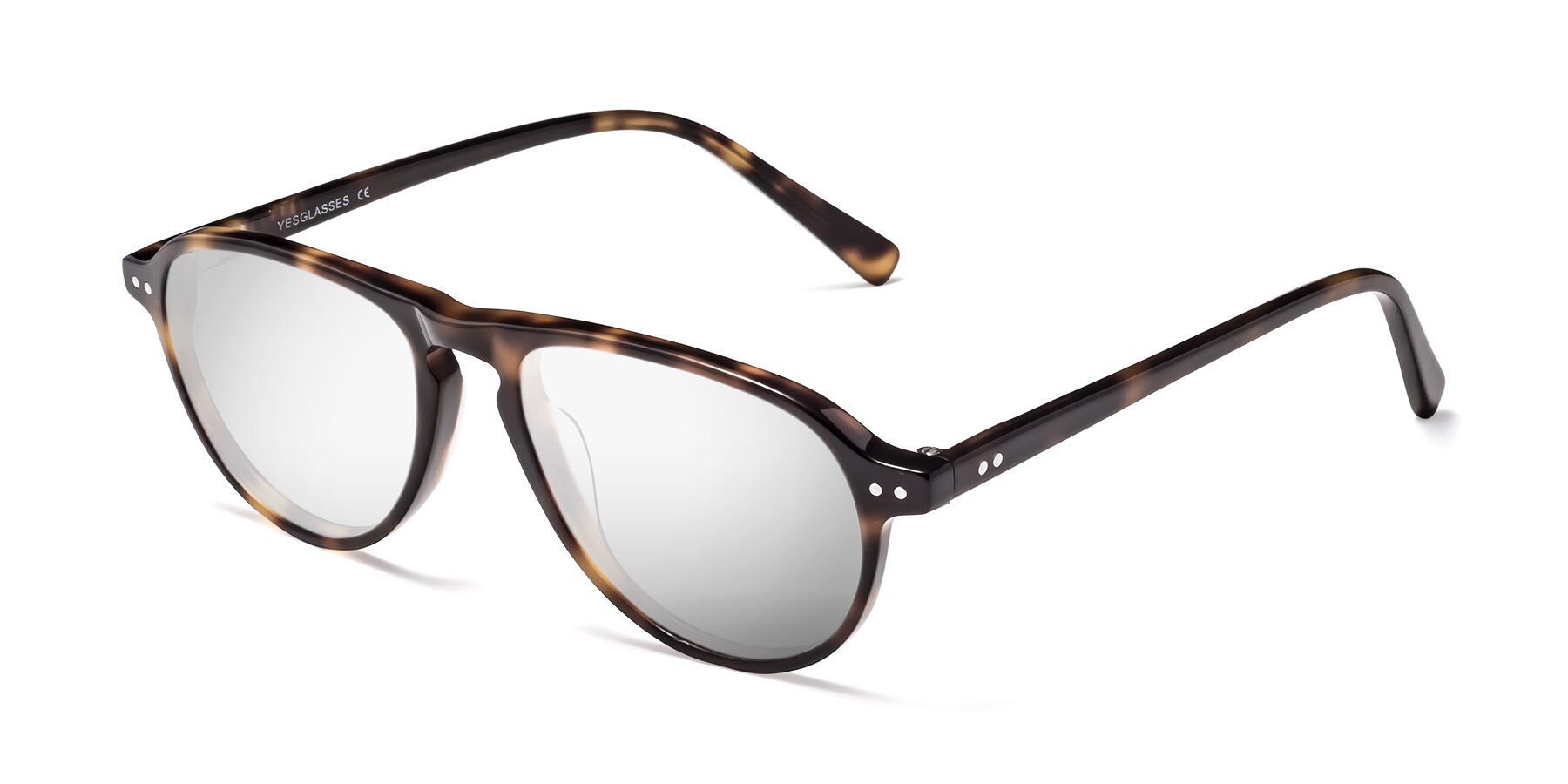 Angle of 17544 in Tortoise with Silver Mirrored Lenses