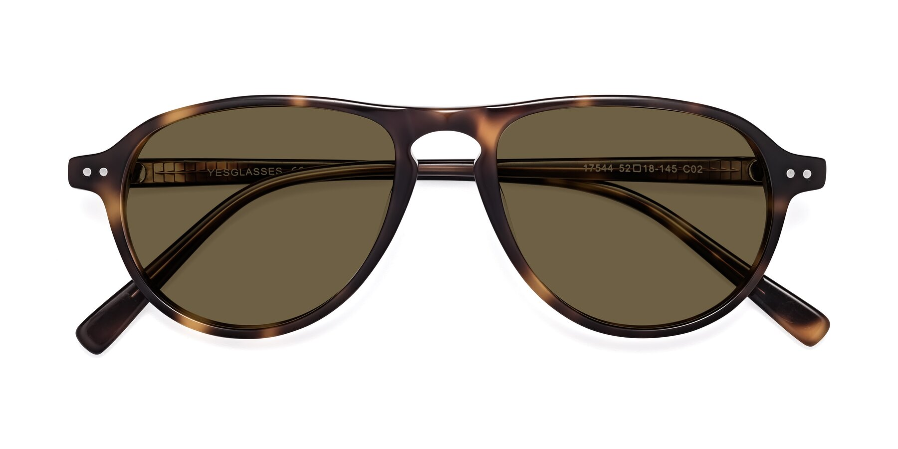 Folded Front of 17544 in Tortoise with Brown Polarized Lenses