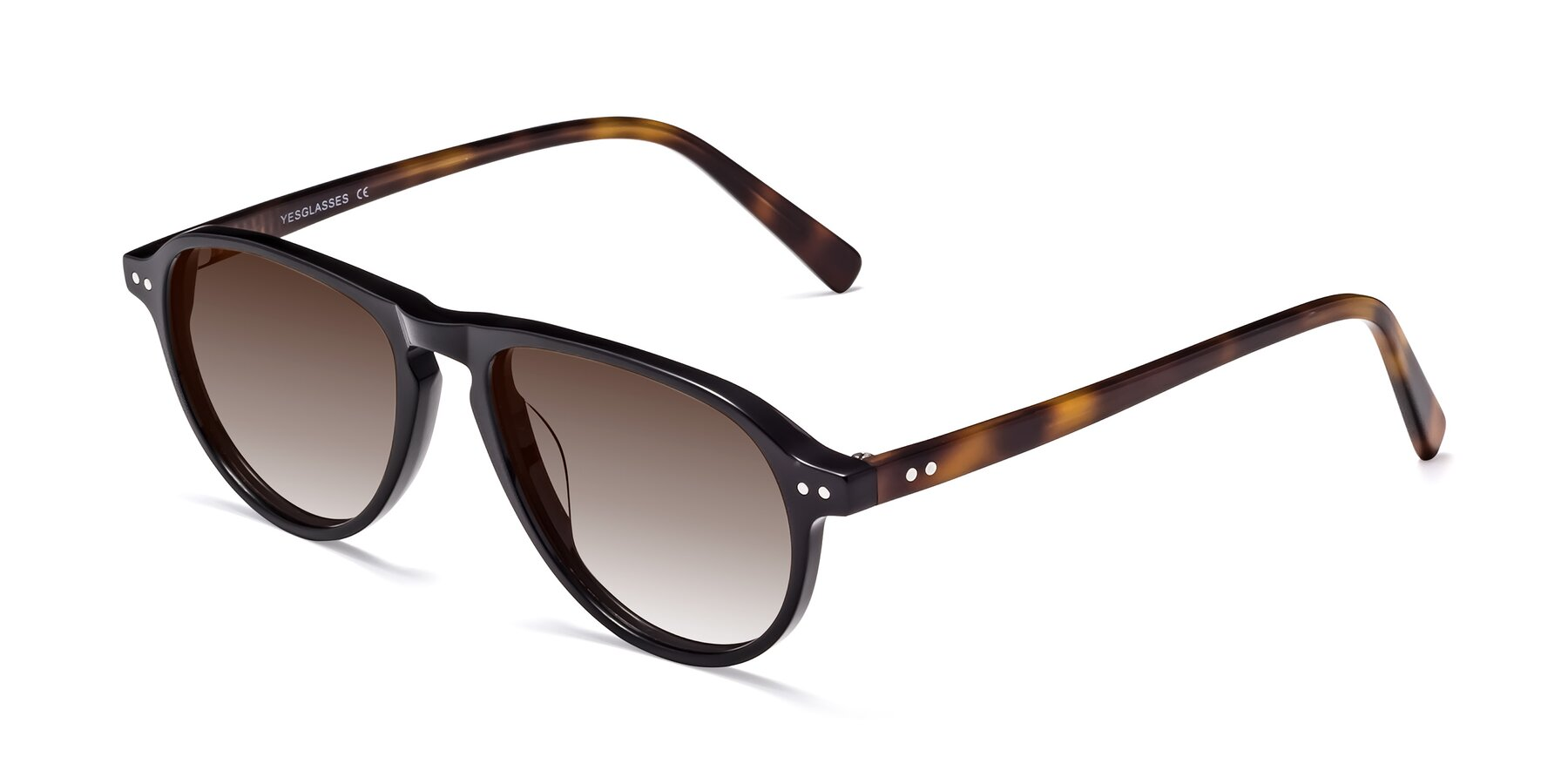 Angle of 17544 in Black-Tortoise with Brown Gradient Lenses