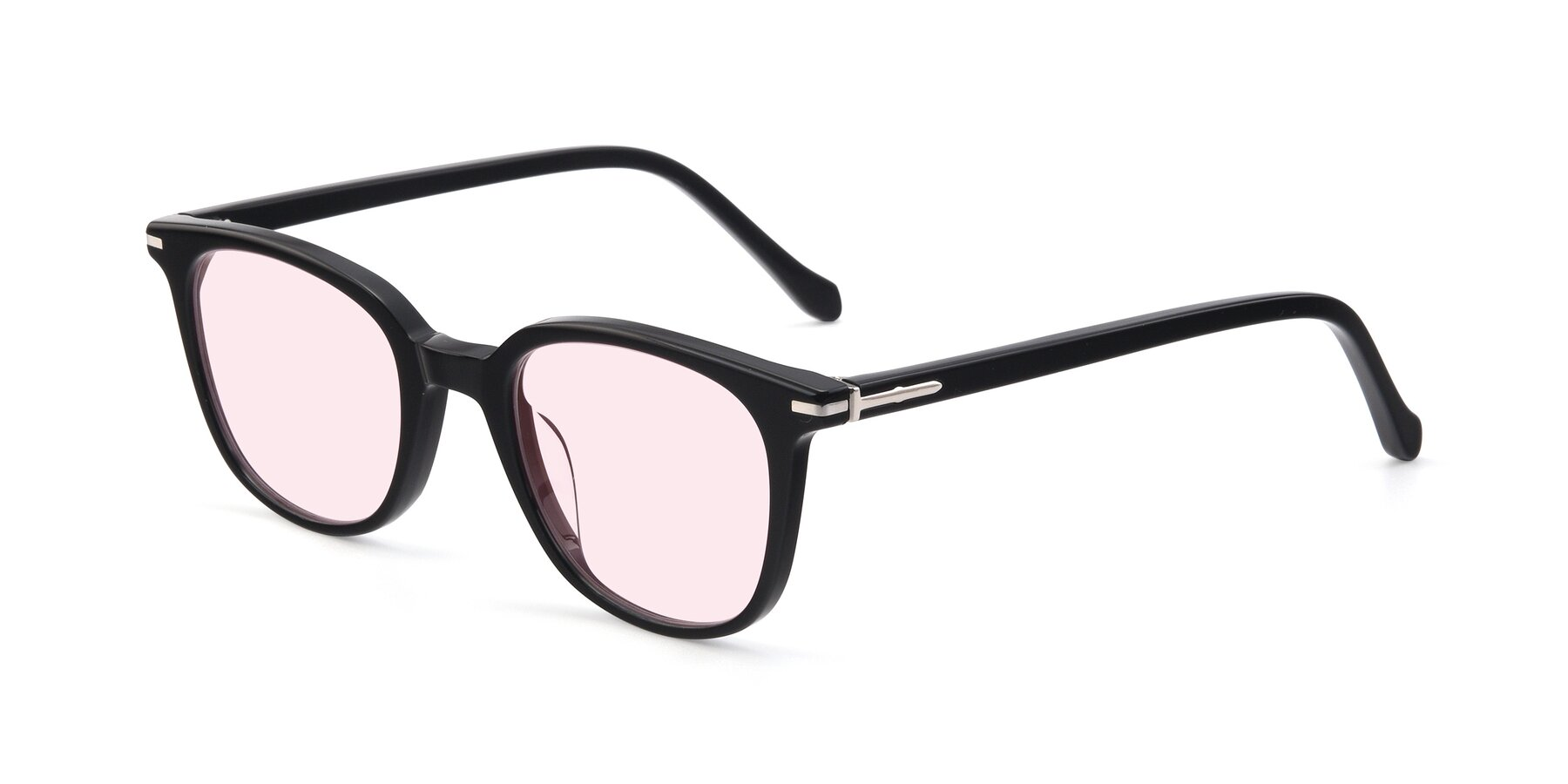 Angle of 17562 in Black with Light Pink Tinted Lenses