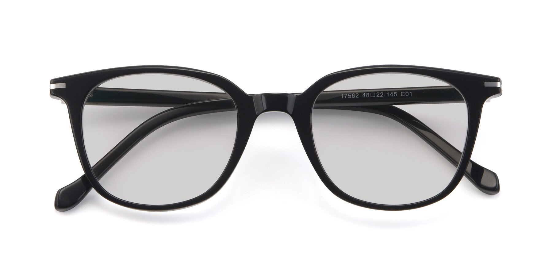 Folded Front of 17562 in Black with Light Gray Tinted Lenses