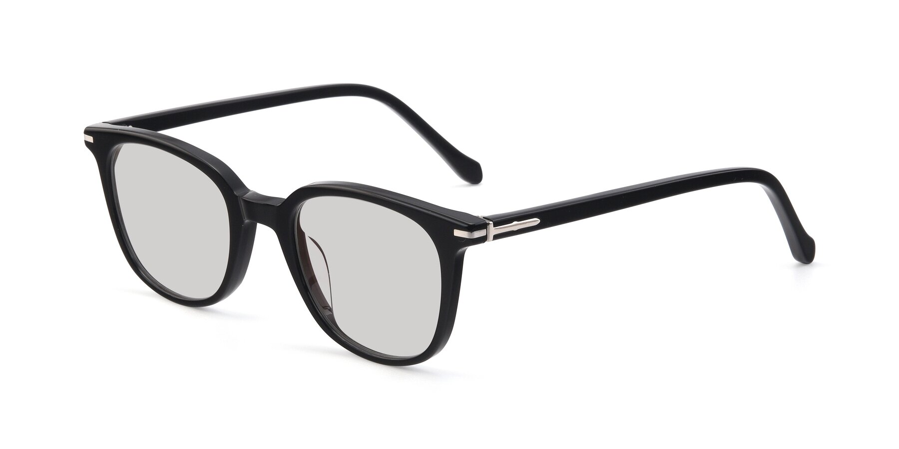 Angle of 17562 in Black with Light Gray Tinted Lenses