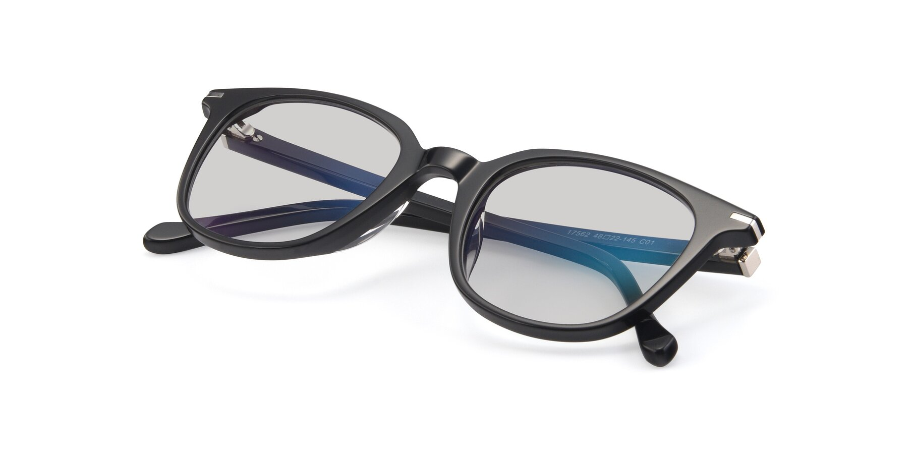 View of 17562 in Black with Light Gray Tinted Lenses