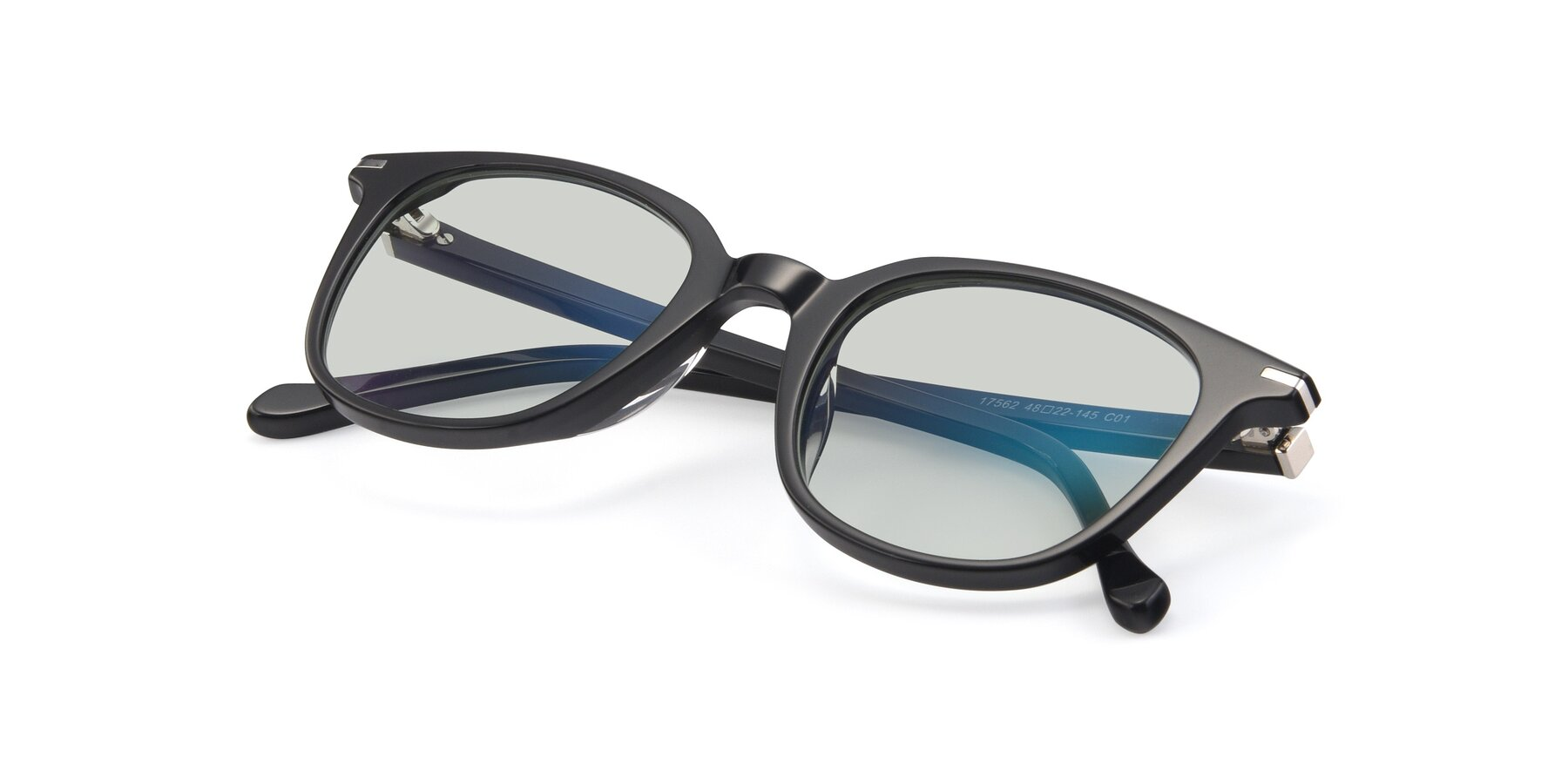 View of 17562 in Black with Light Green Tinted Lenses