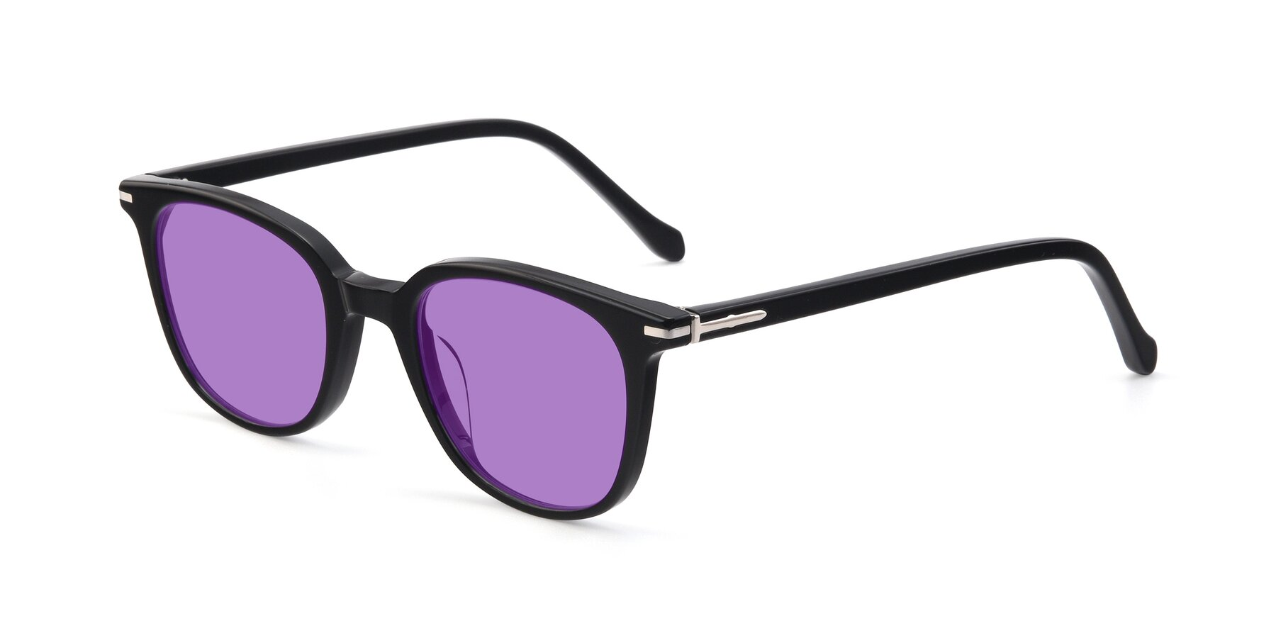 Angle of 17562 in Black with Medium Purple Tinted Lenses