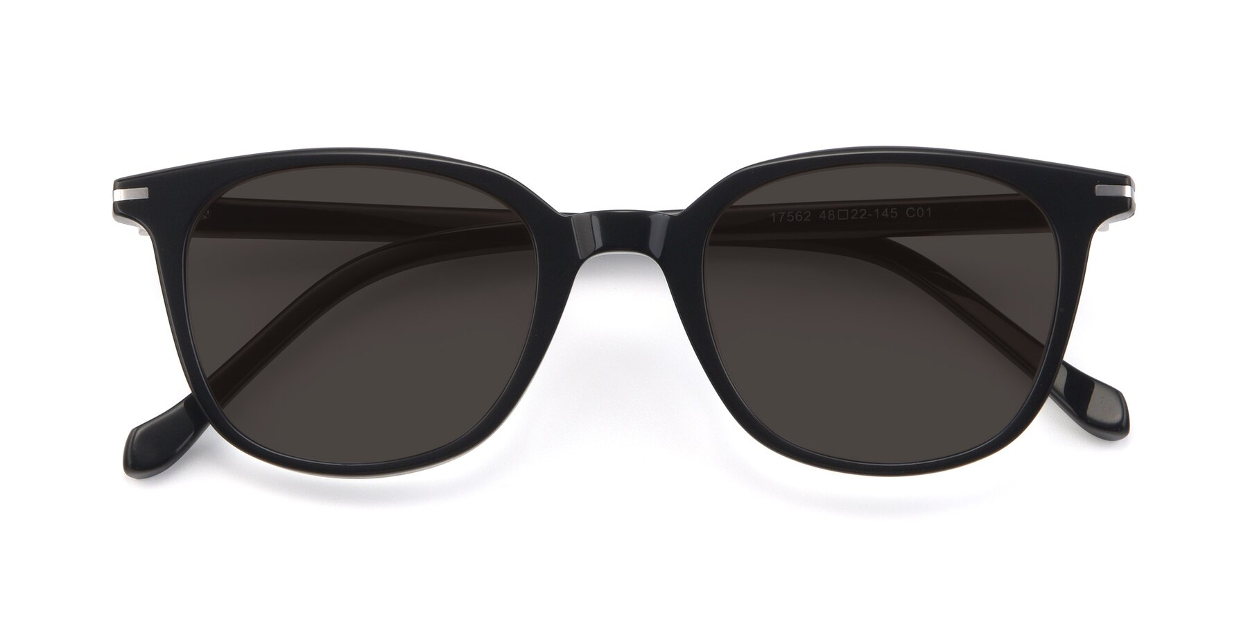 Folded Front of 17562 in Black with Gray Tinted Lenses