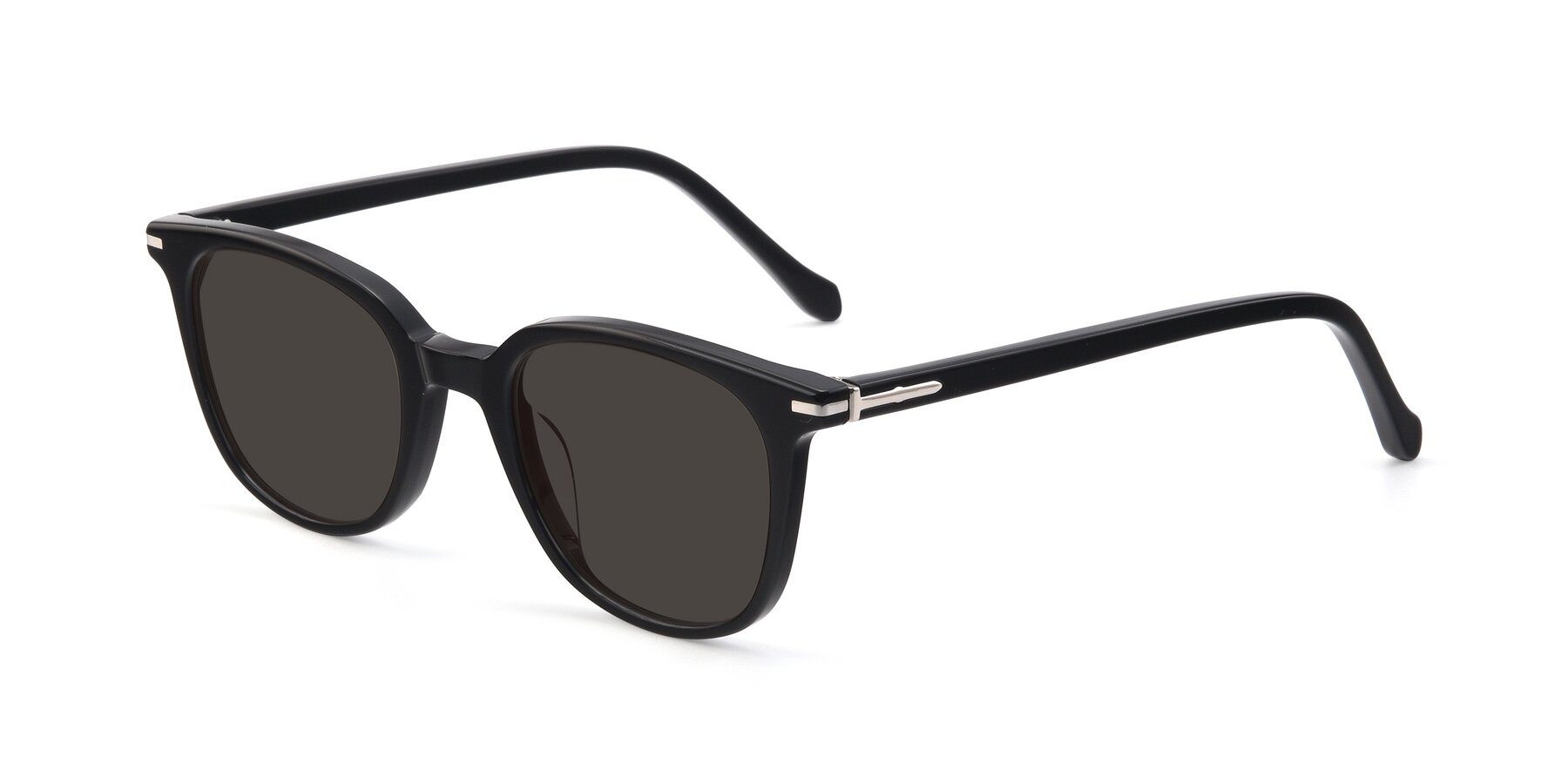 Angle of 17562 in Black with Gray Tinted Lenses