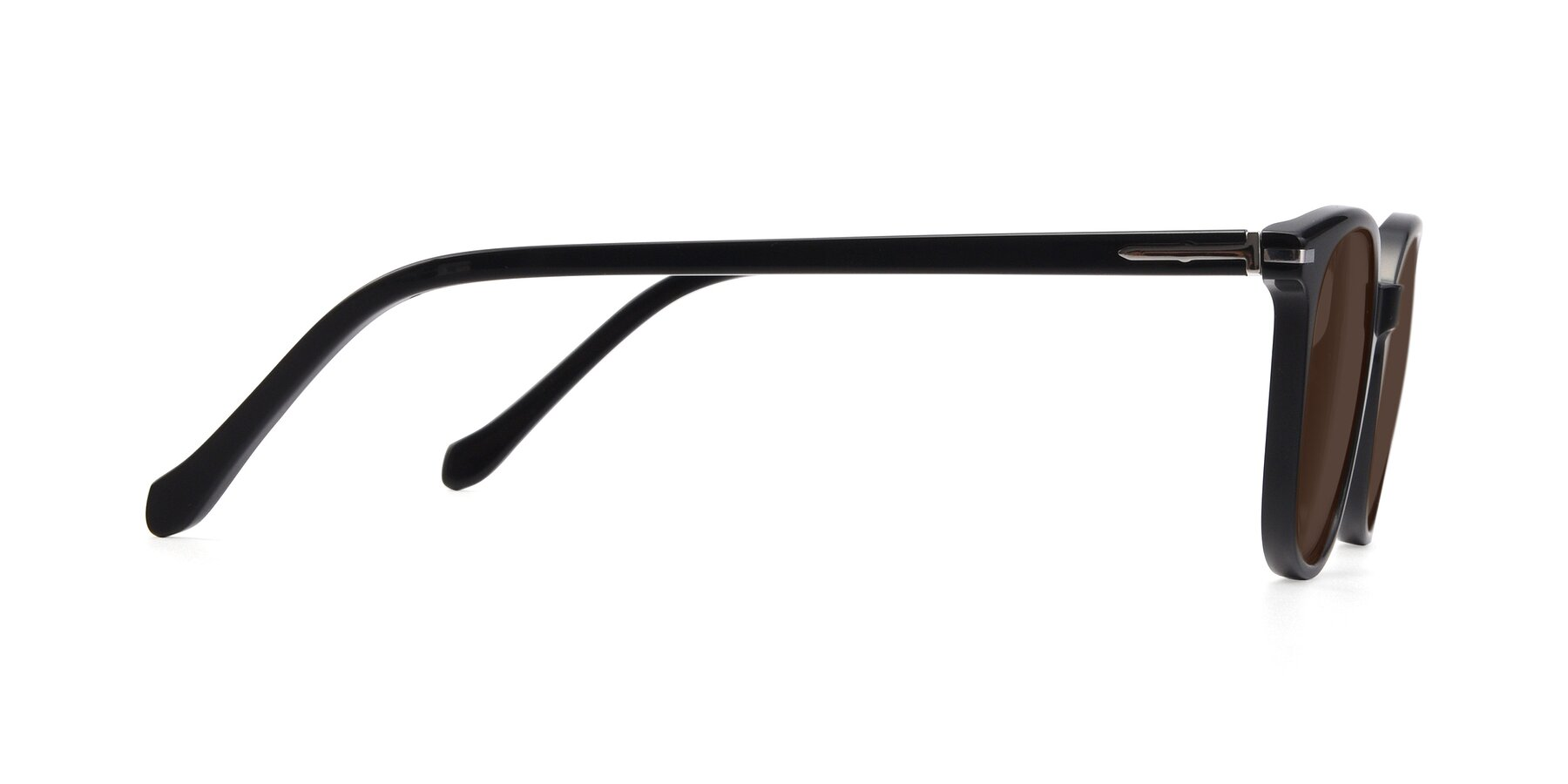 Side of 17562 in Black with Brown Tinted Lenses