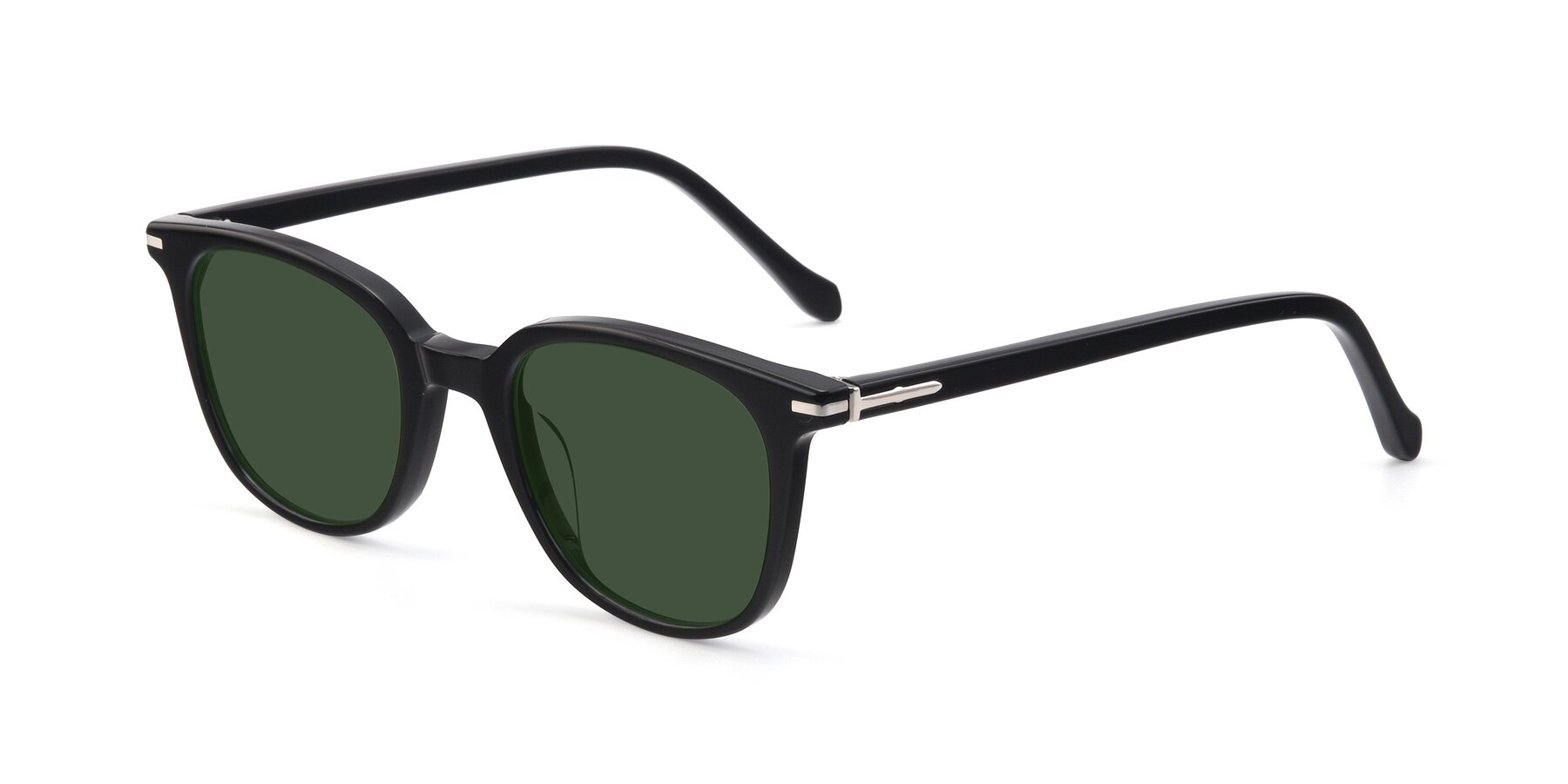 Angle of 17562 in Black with Green Tinted Lenses