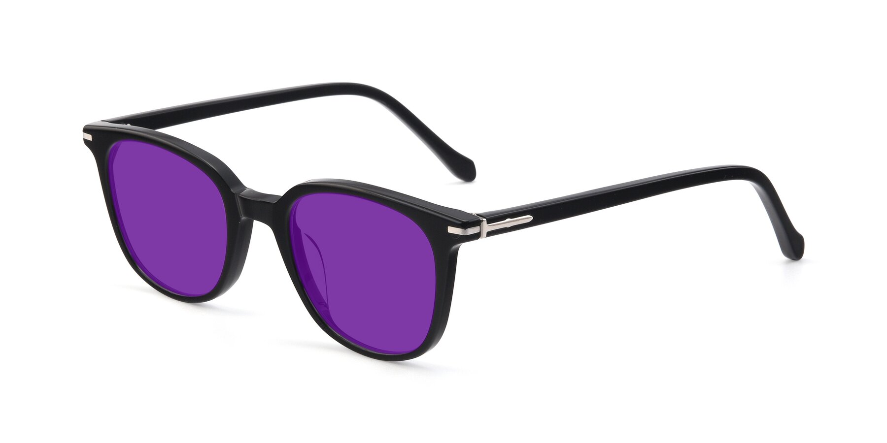 Angle of 17562 in Black with Purple Tinted Lenses