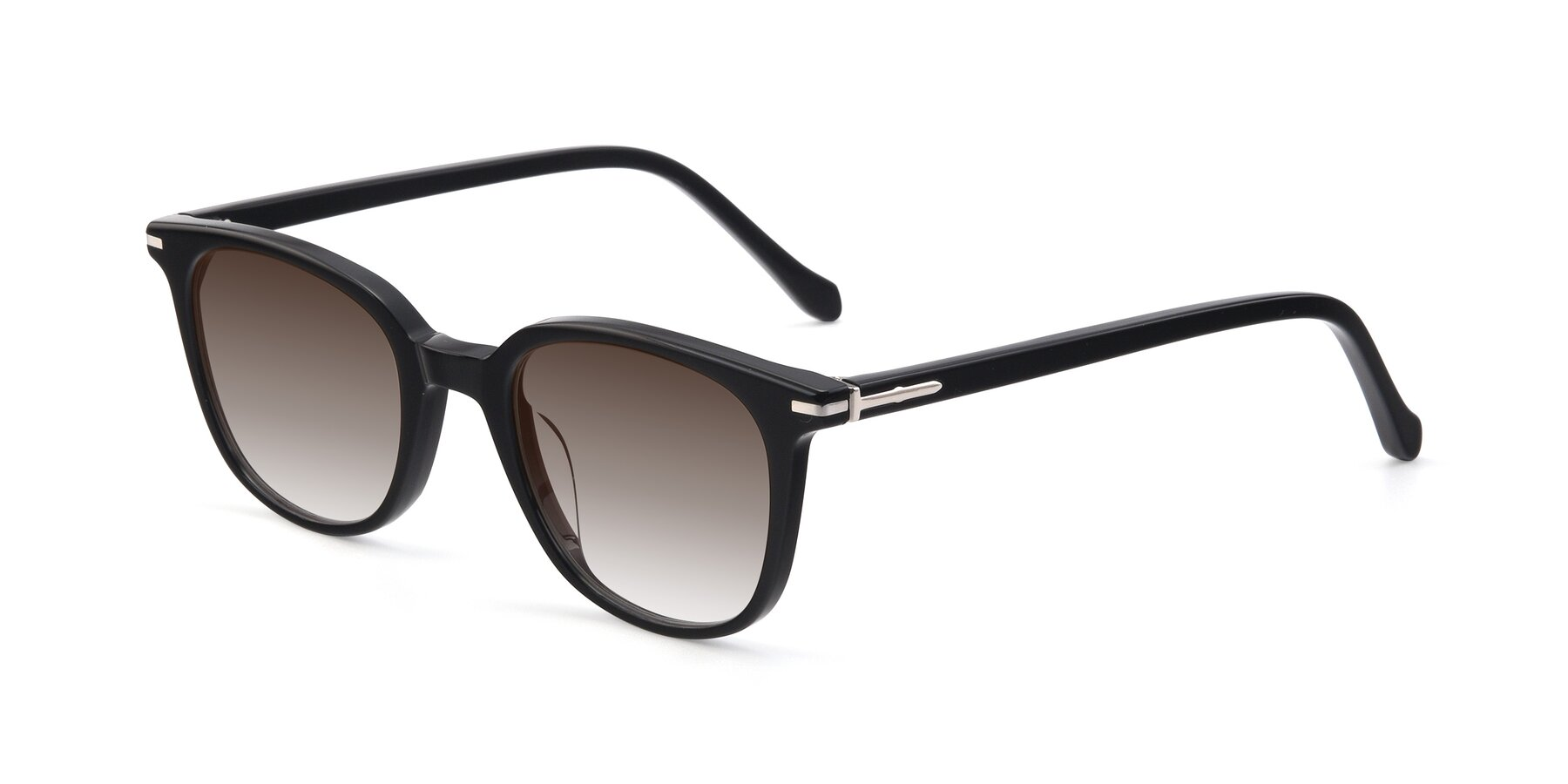 Angle of 17562 in Black with Brown Gradient Lenses