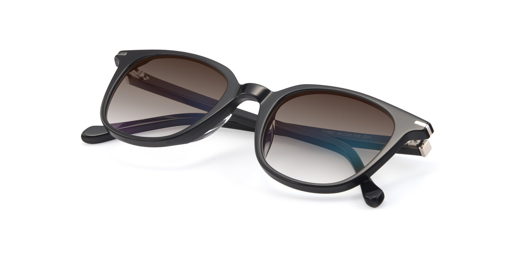 View of 17562 in Black with Brown Gradient Lenses