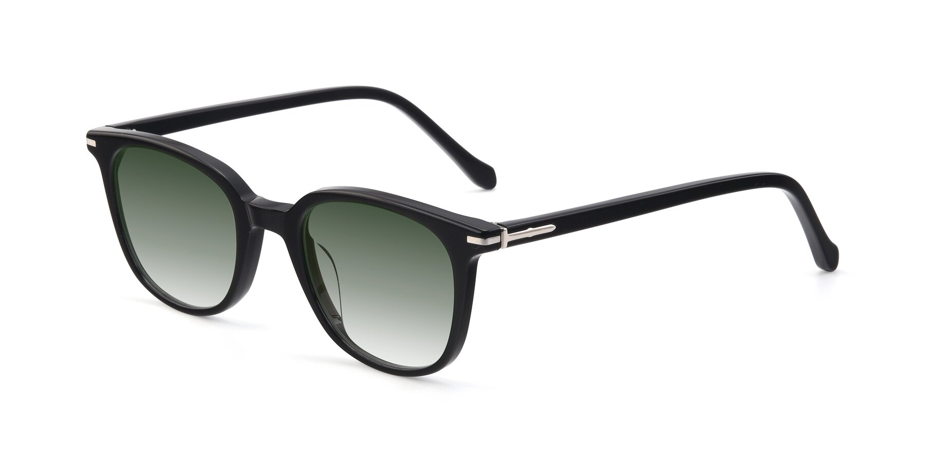 Angle of 17562 in Black with Green Gradient Lenses
