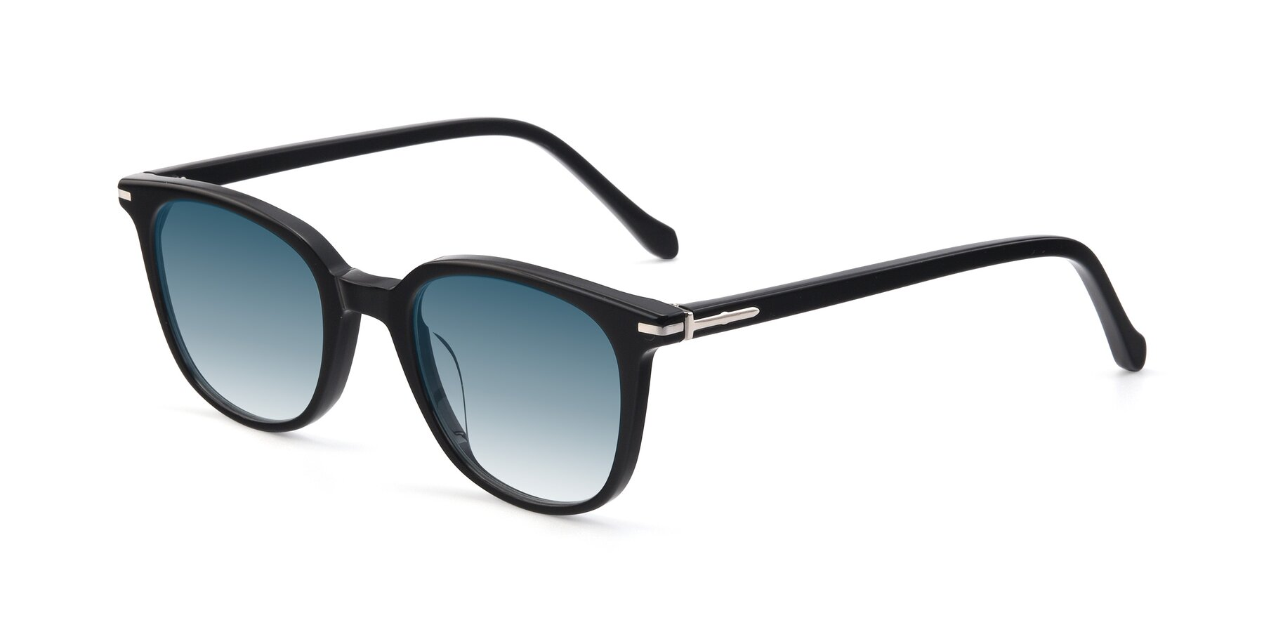 Angle of 17562 in Black with Blue Gradient Lenses