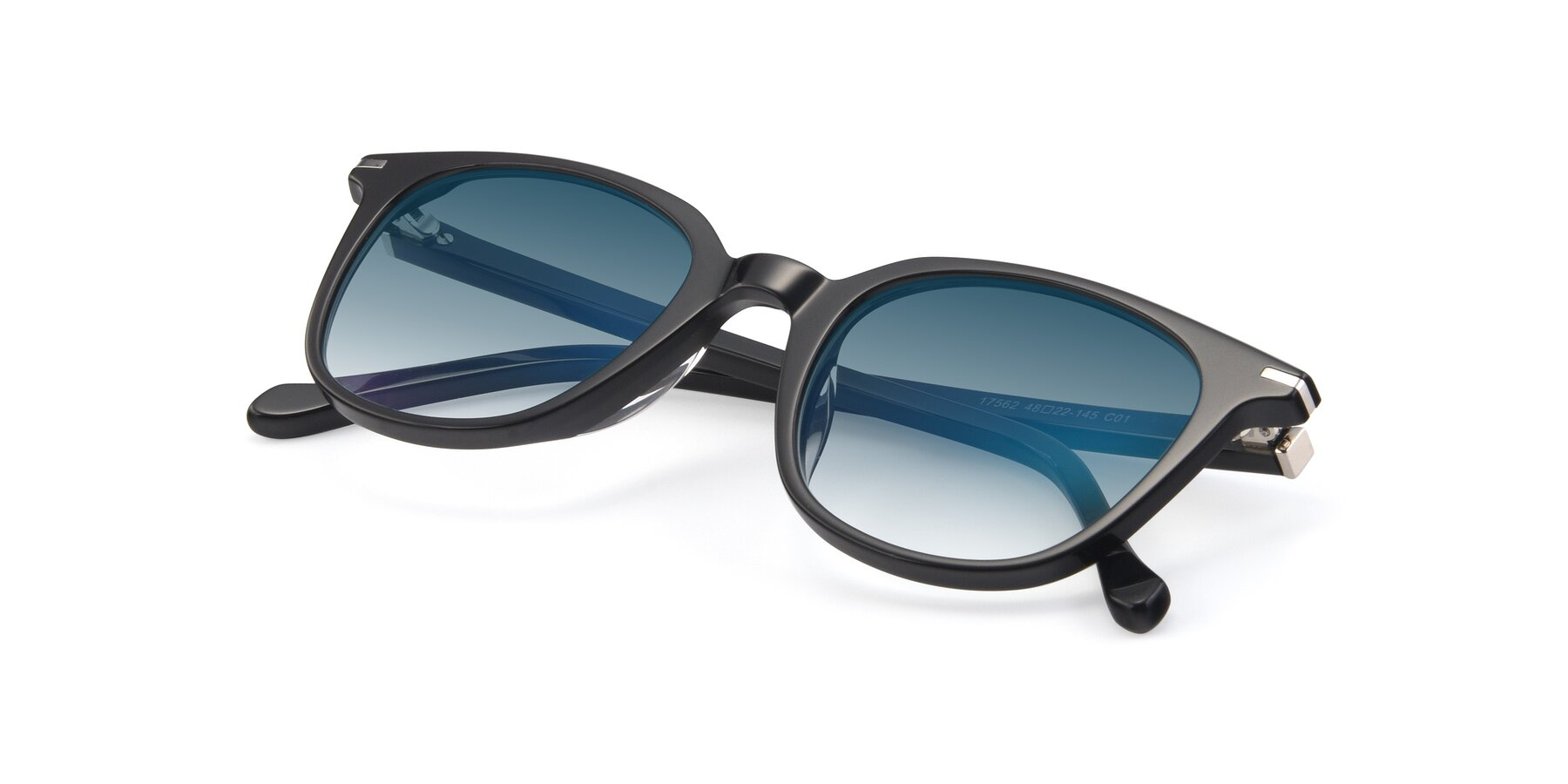 View of 17562 in Black with Blue Gradient Lenses