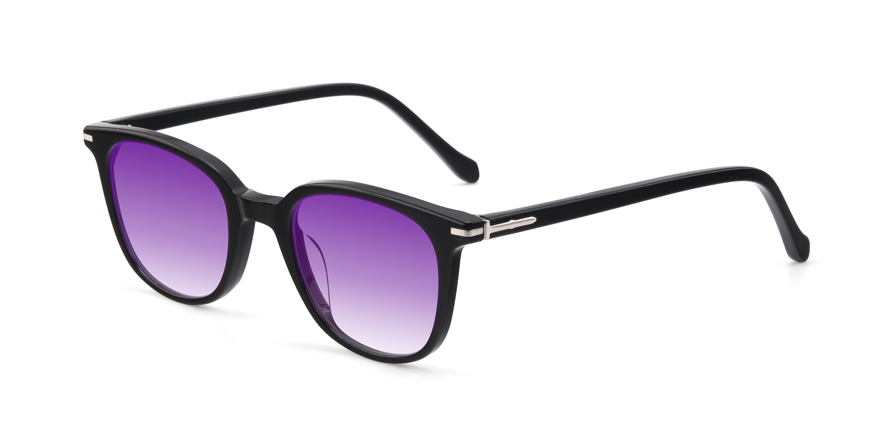 Angle of 17562 in Black with Purple Gradient Lenses