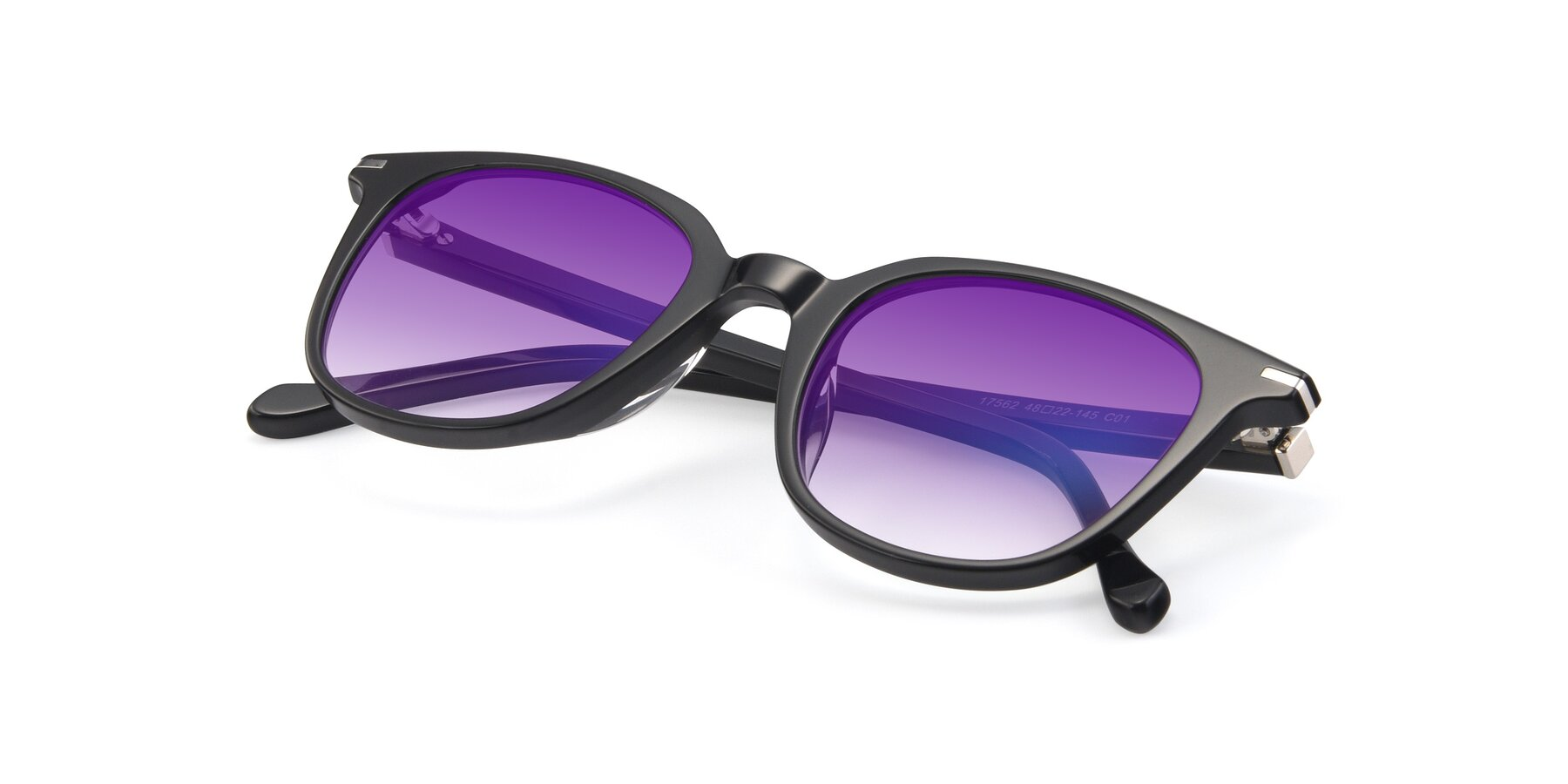 View of 17562 in Black with Purple Gradient Lenses