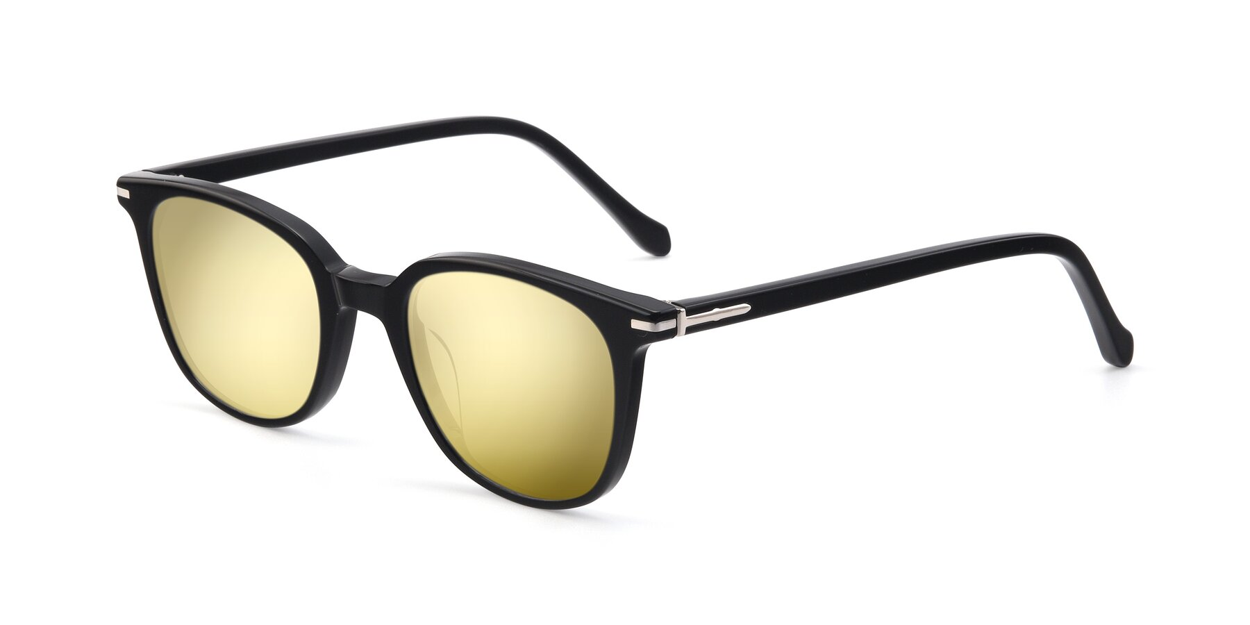 Angle of 17562 in Black with Gold Mirrored Lenses