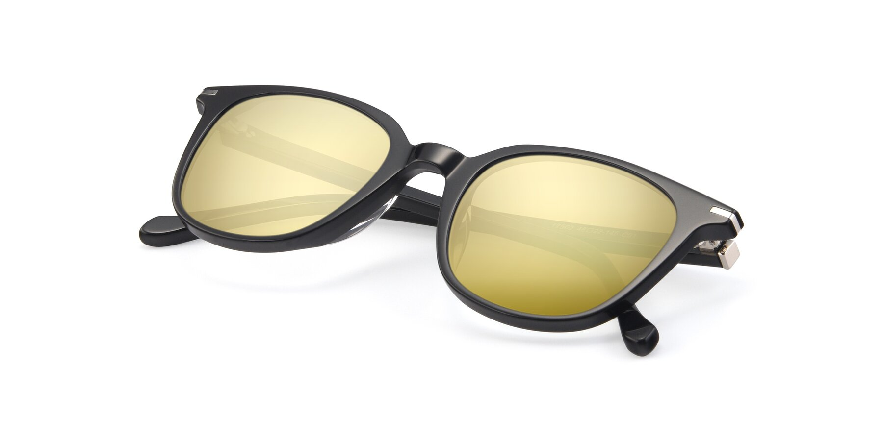 View of 17562 in Black with Gold Mirrored Lenses