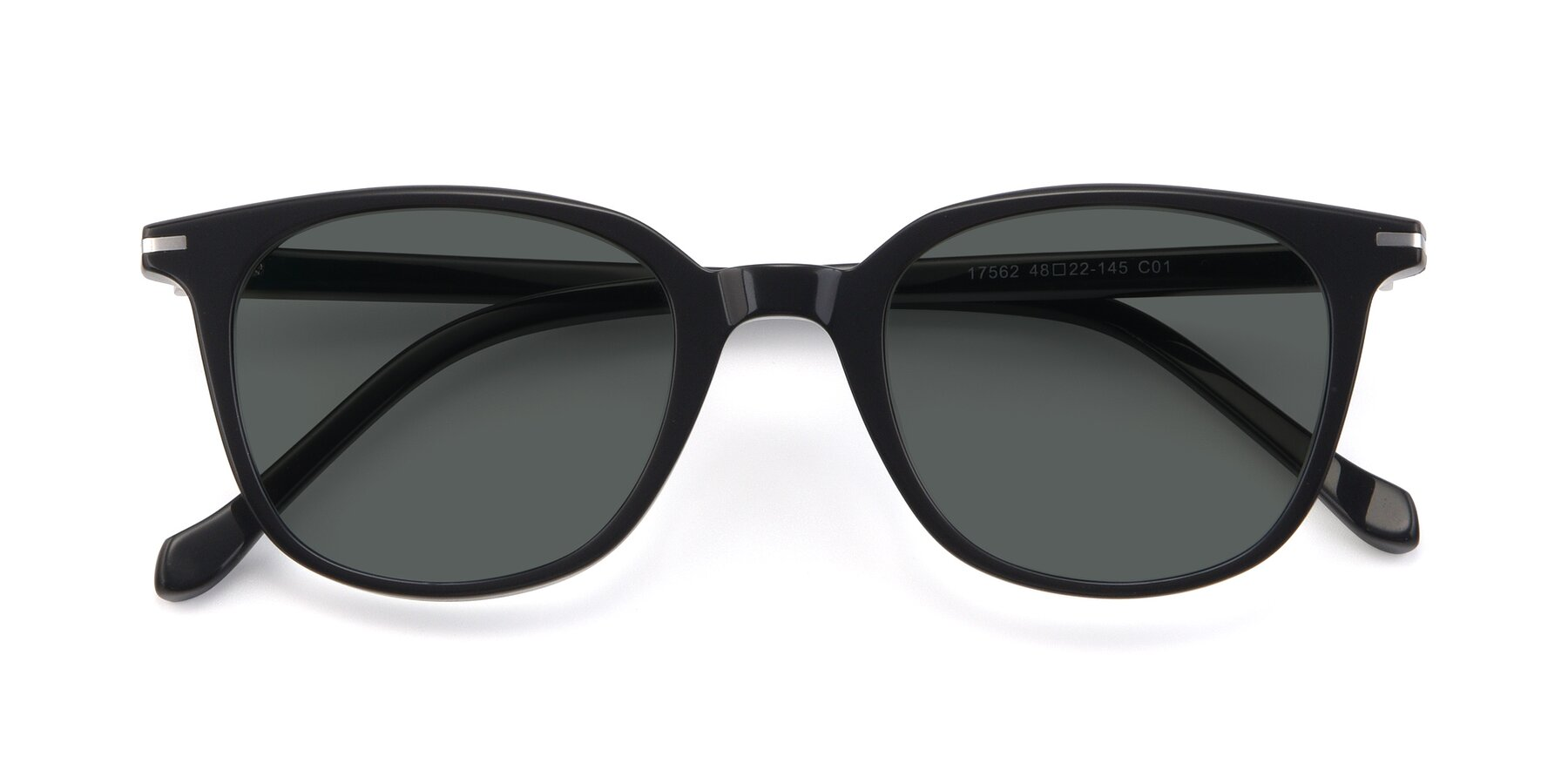 Folded Front of 17562 in Black with Gray Polarized Lenses