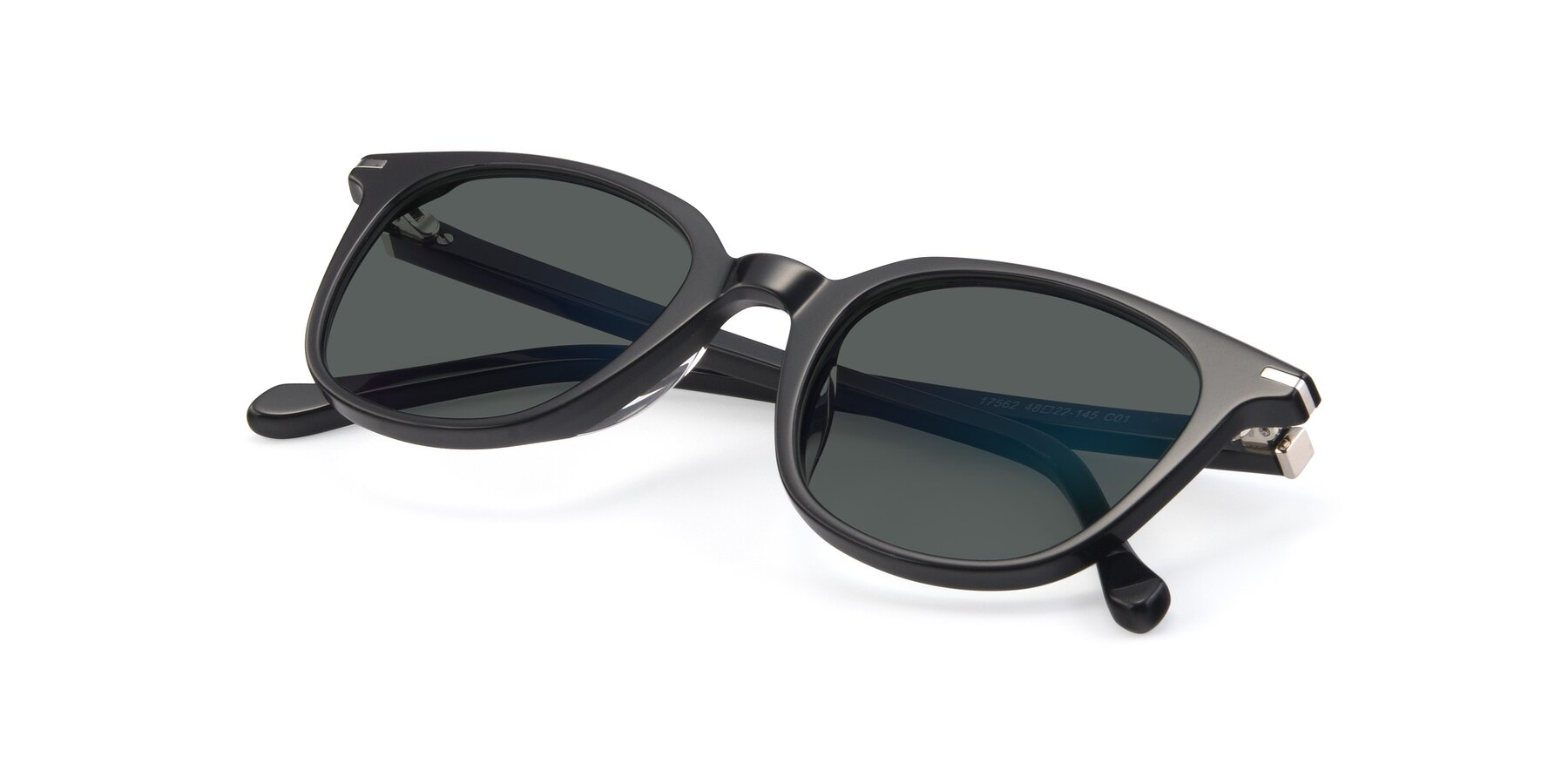 View of 17562 in Black with Gray Polarized Lenses