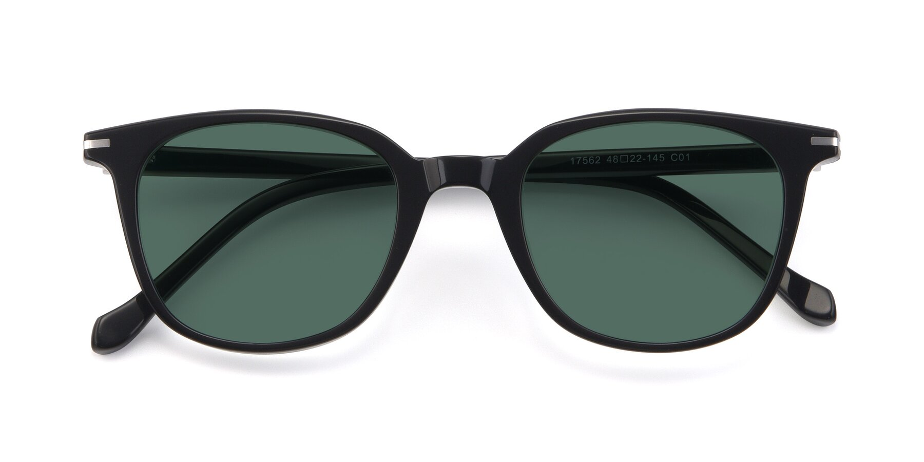 Folded Front of 17562 in Black with Green Polarized Lenses
