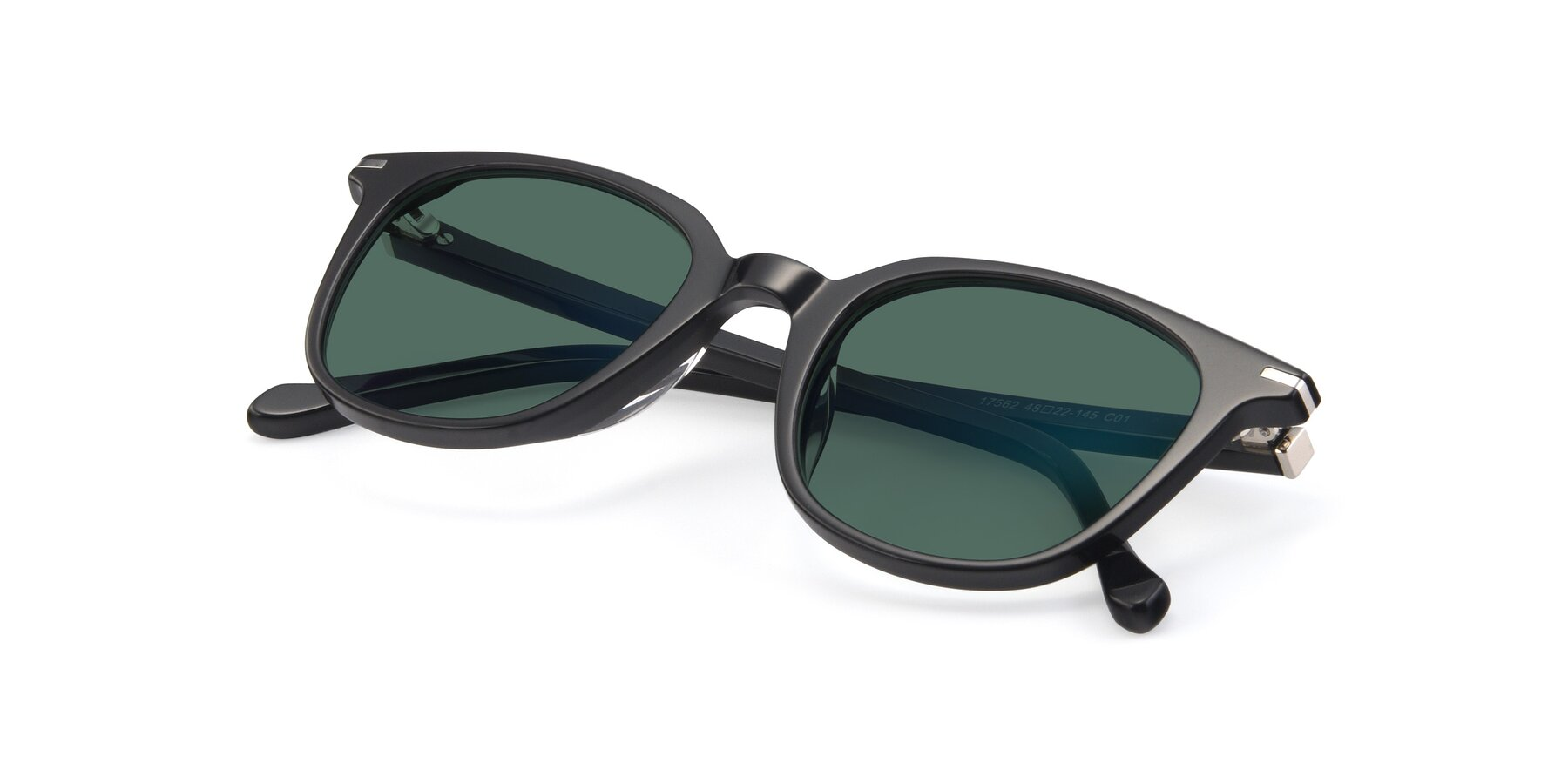 View of 17562 in Black with Green Polarized Lenses
