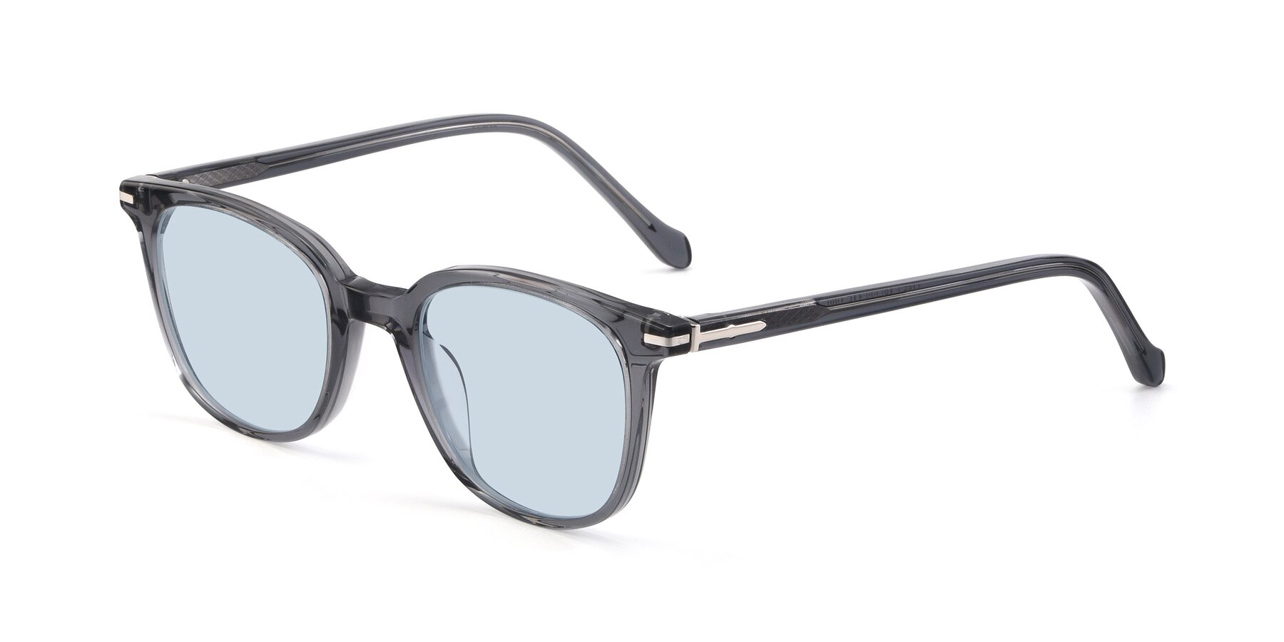 Angle of 17562 in Transparent Grey with Light Blue Tinted Lenses