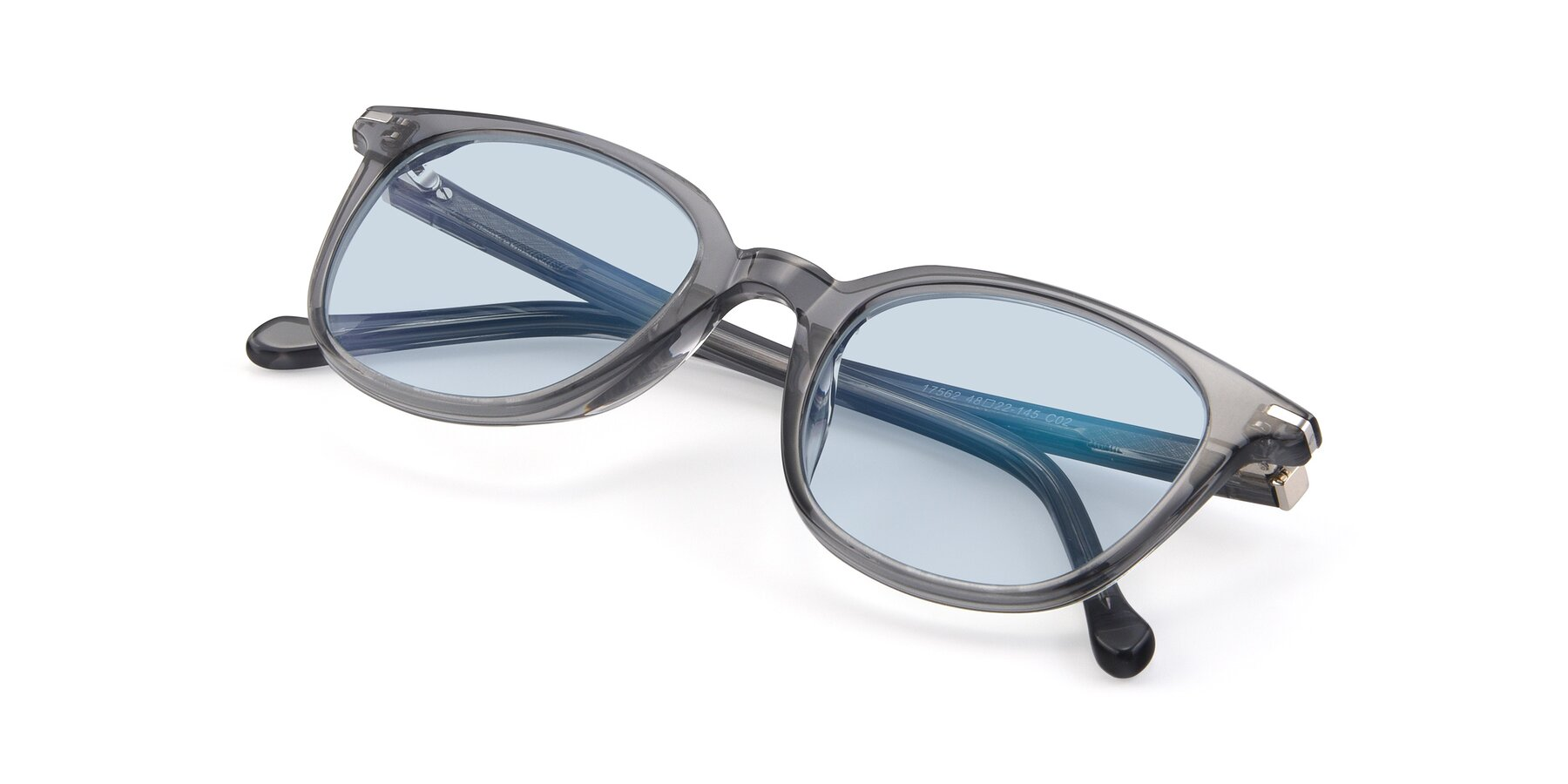 View of 17562 in Transparent Grey with Light Blue Tinted Lenses