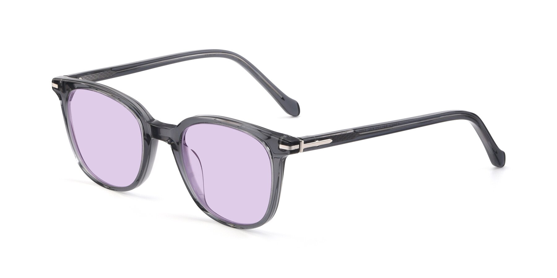 Angle of 17562 in Transparent Grey with Light Purple Tinted Lenses