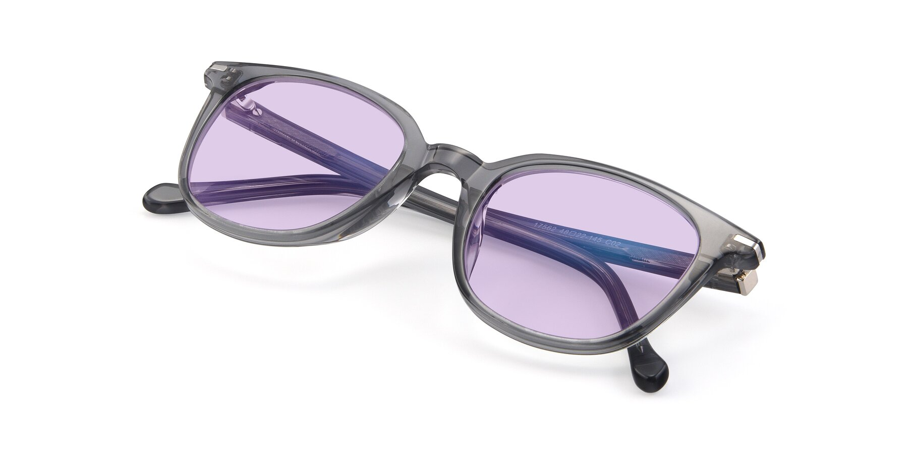 View of 17562 in Transparent Grey with Light Purple Tinted Lenses