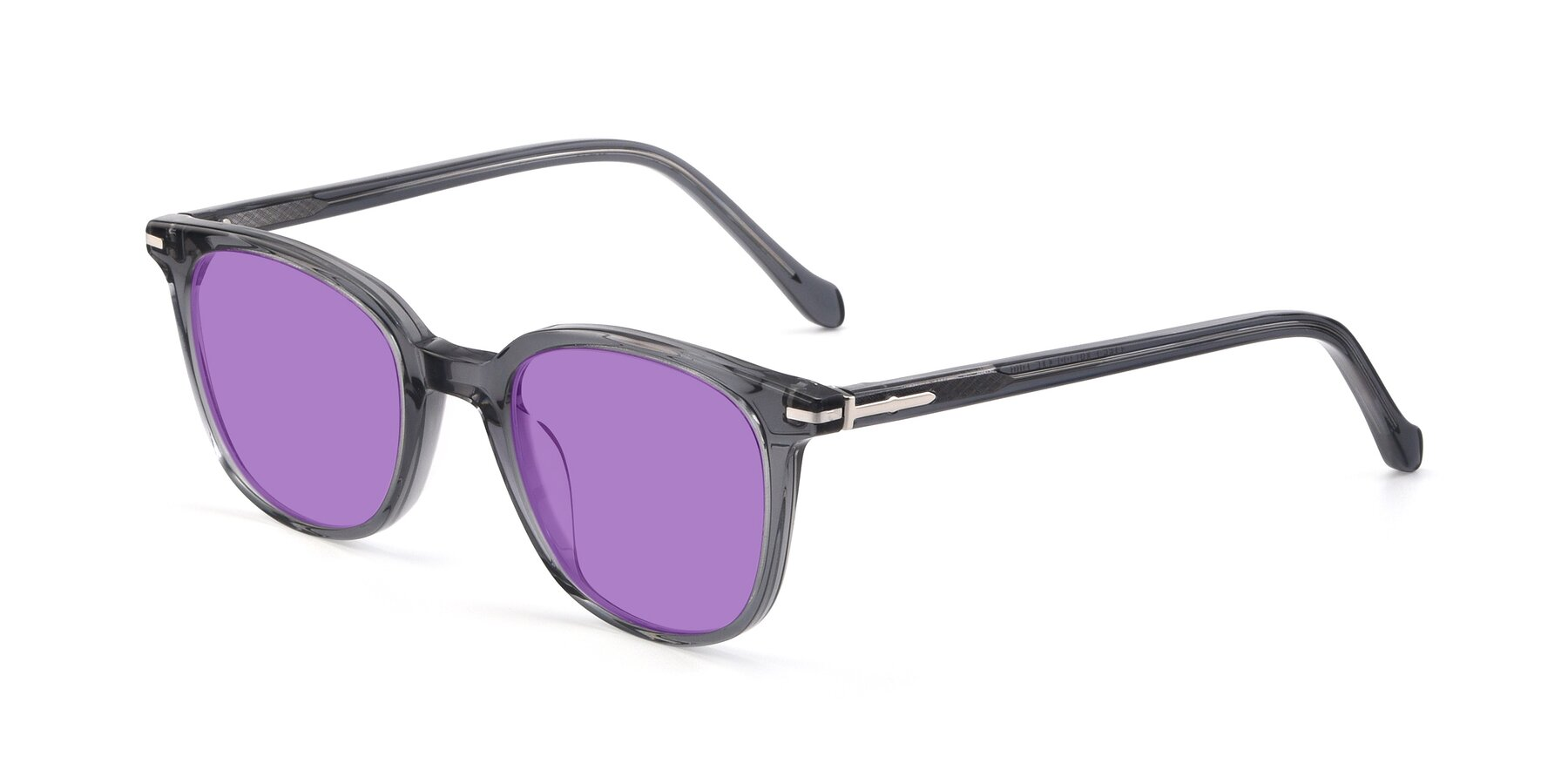 Angle of 17562 in Transparent Grey with Medium Purple Tinted Lenses