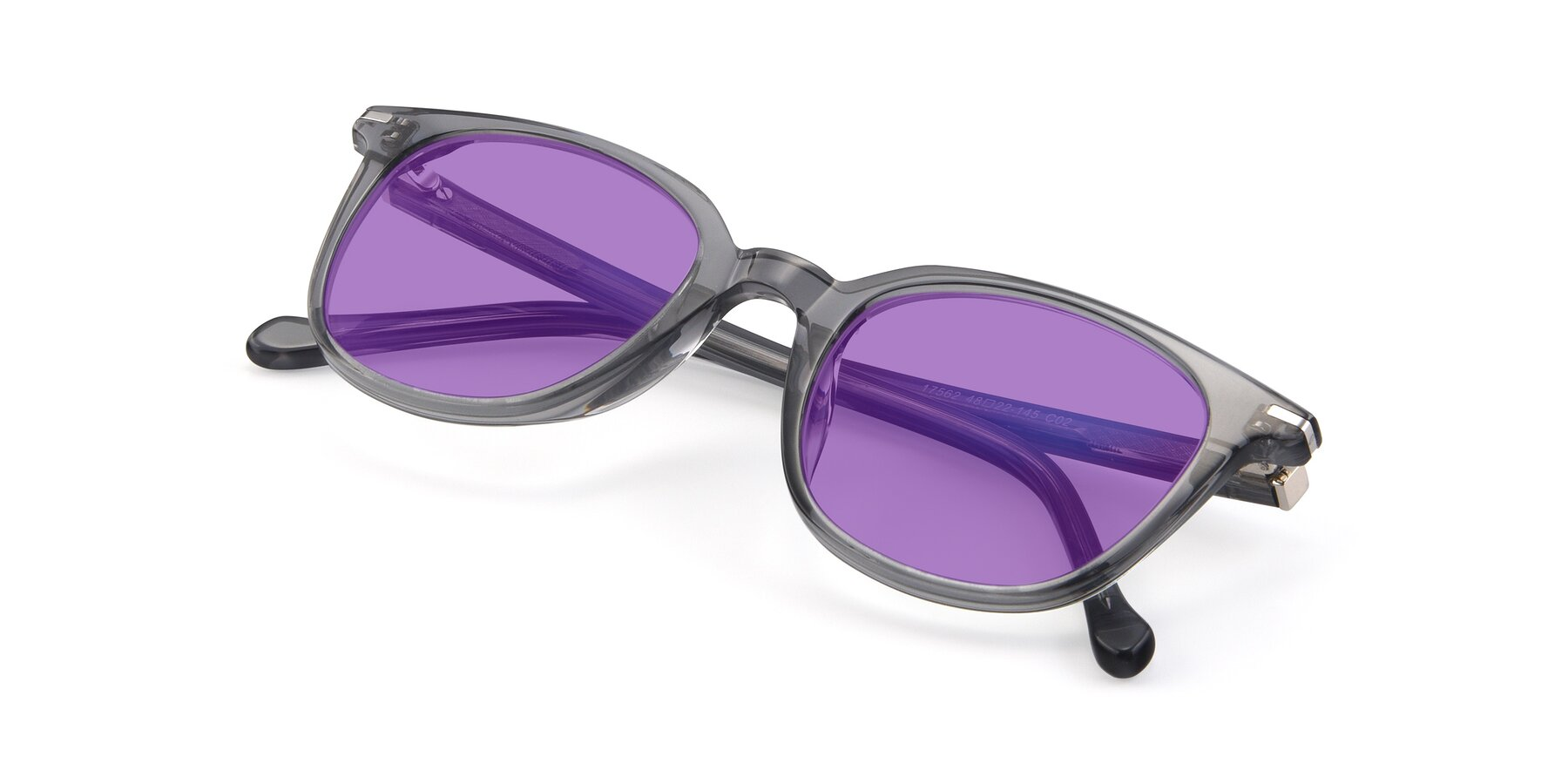 View of 17562 in Transparent Grey with Medium Purple Tinted Lenses