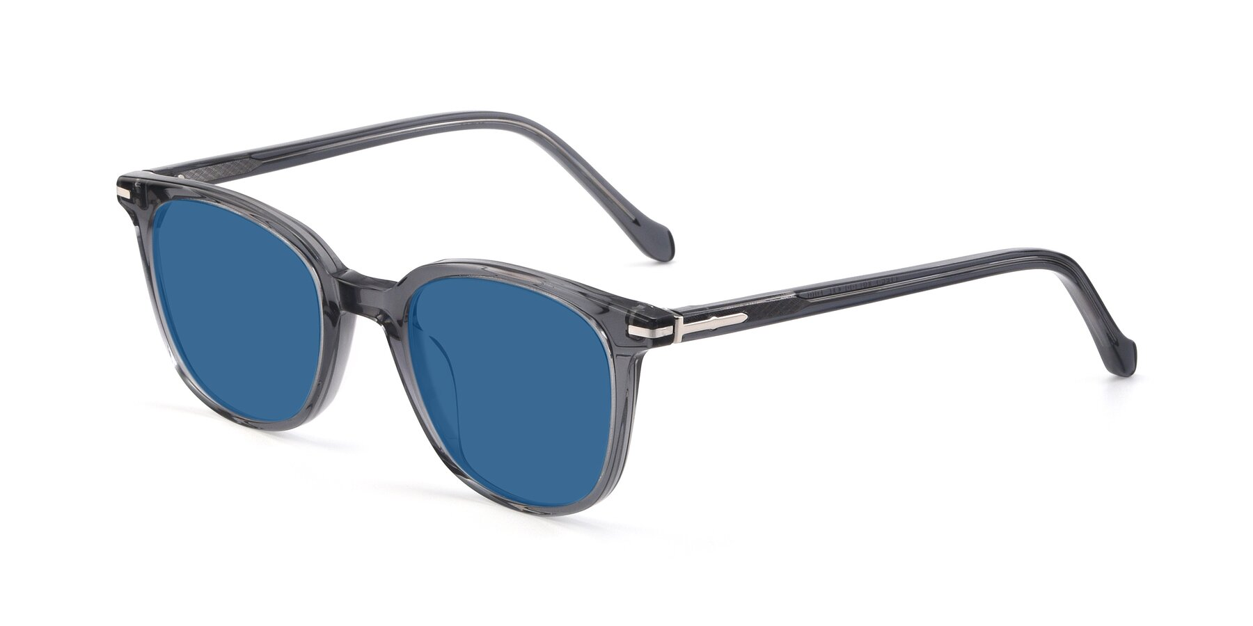Angle of 17562 in Transparent Grey with Blue Tinted Lenses