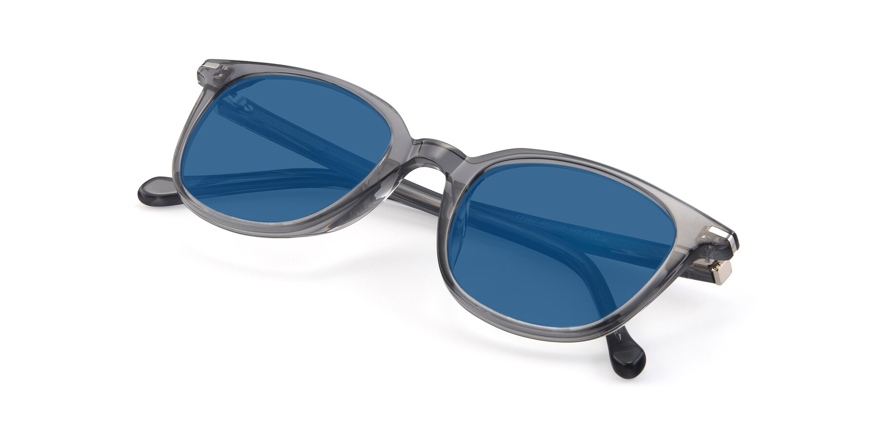 View of 17562 in Transparent Grey with Blue Tinted Lenses