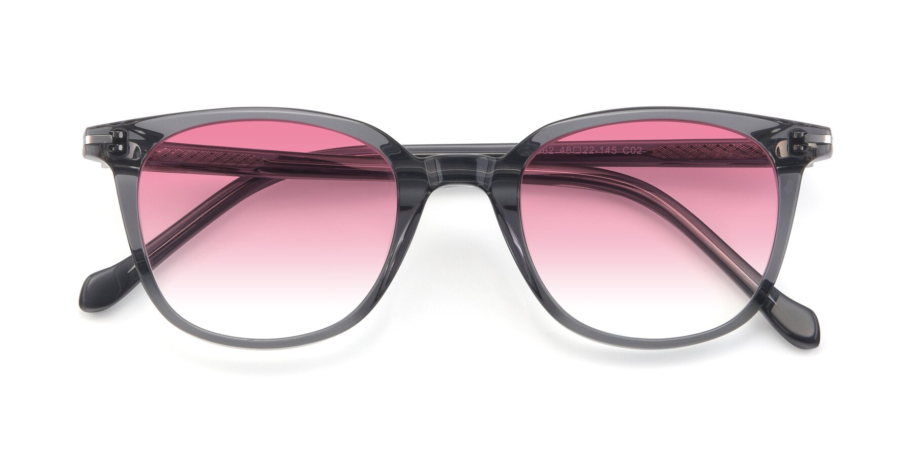 Folded Front of 17562 in Transparent Grey with Pink Gradient Lenses