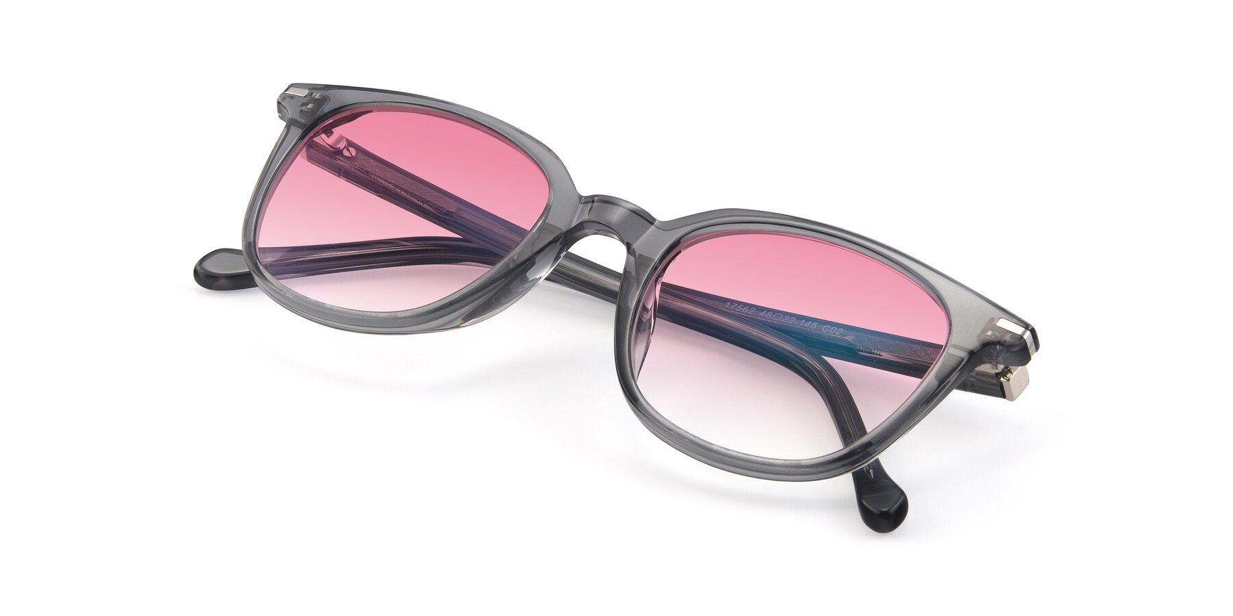 View of 17562 in Transparent Grey with Pink Gradient Lenses
