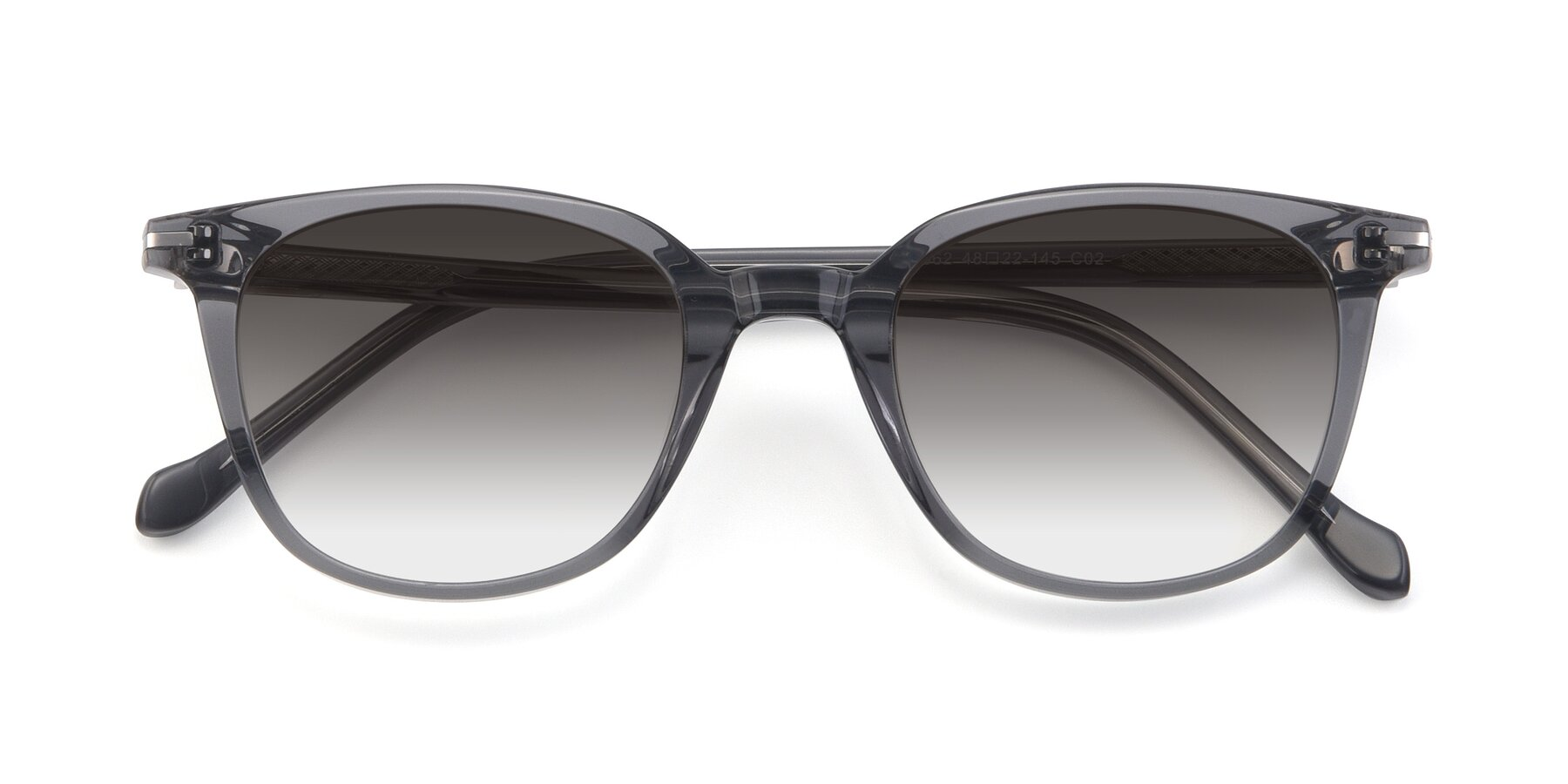 Folded Front of 17562 in Transparent Grey with Gray Gradient Lenses