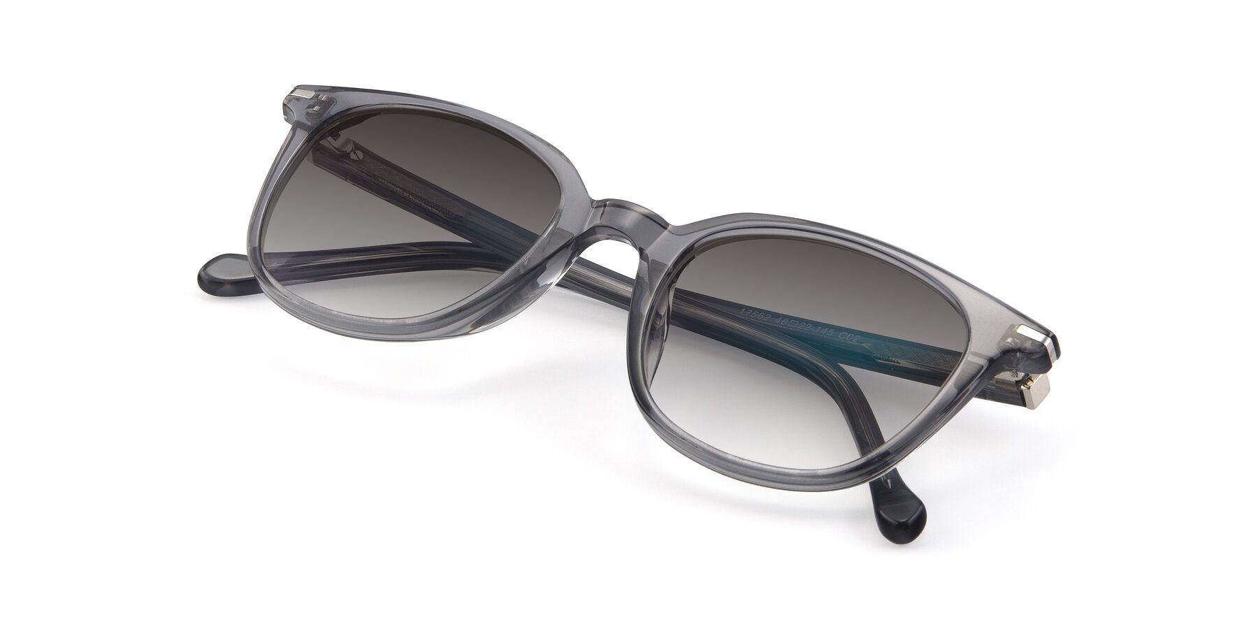 View of 17562 in Transparent Grey with Gray Gradient Lenses