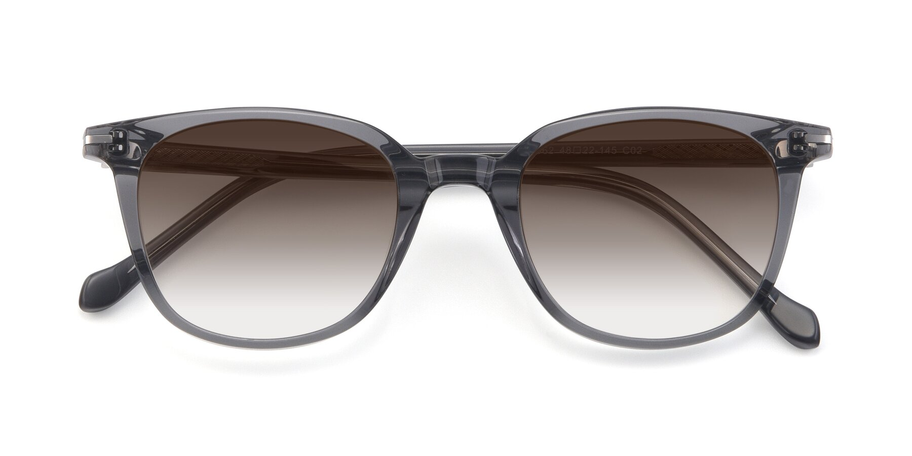 Folded Front of 17562 in Transparent Grey with Brown Gradient Lenses
