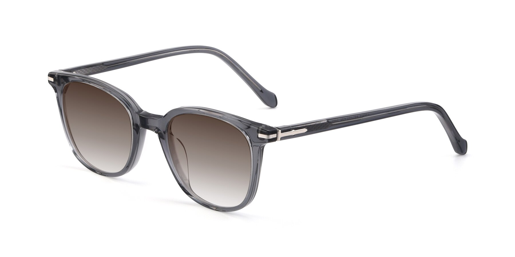 Angle of 17562 in Transparent Grey with Brown Gradient Lenses