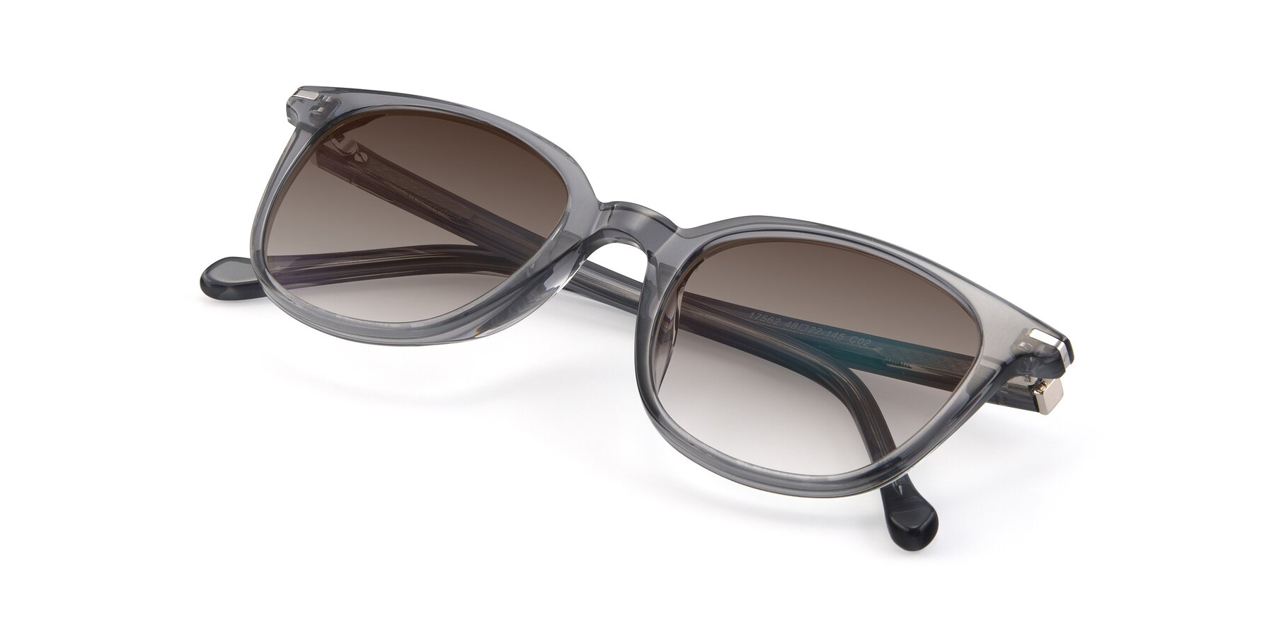 View of 17562 in Transparent Grey with Brown Gradient Lenses
