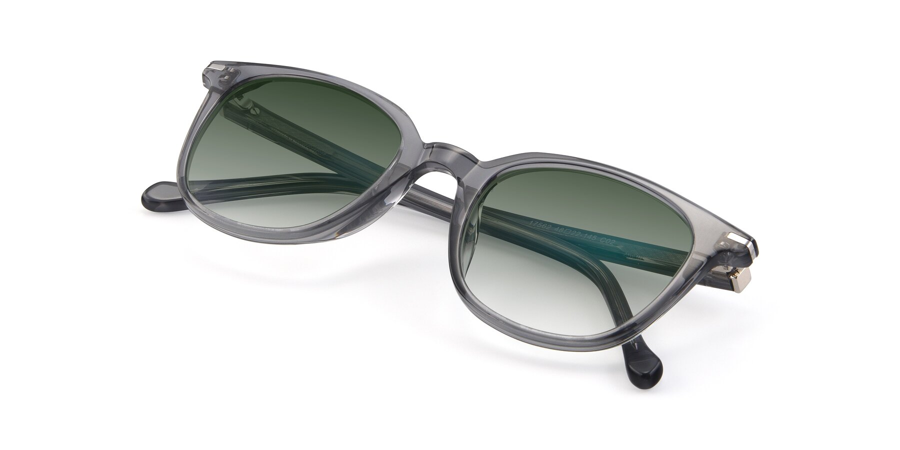 View of 17562 in Transparent Grey with Green Gradient Lenses