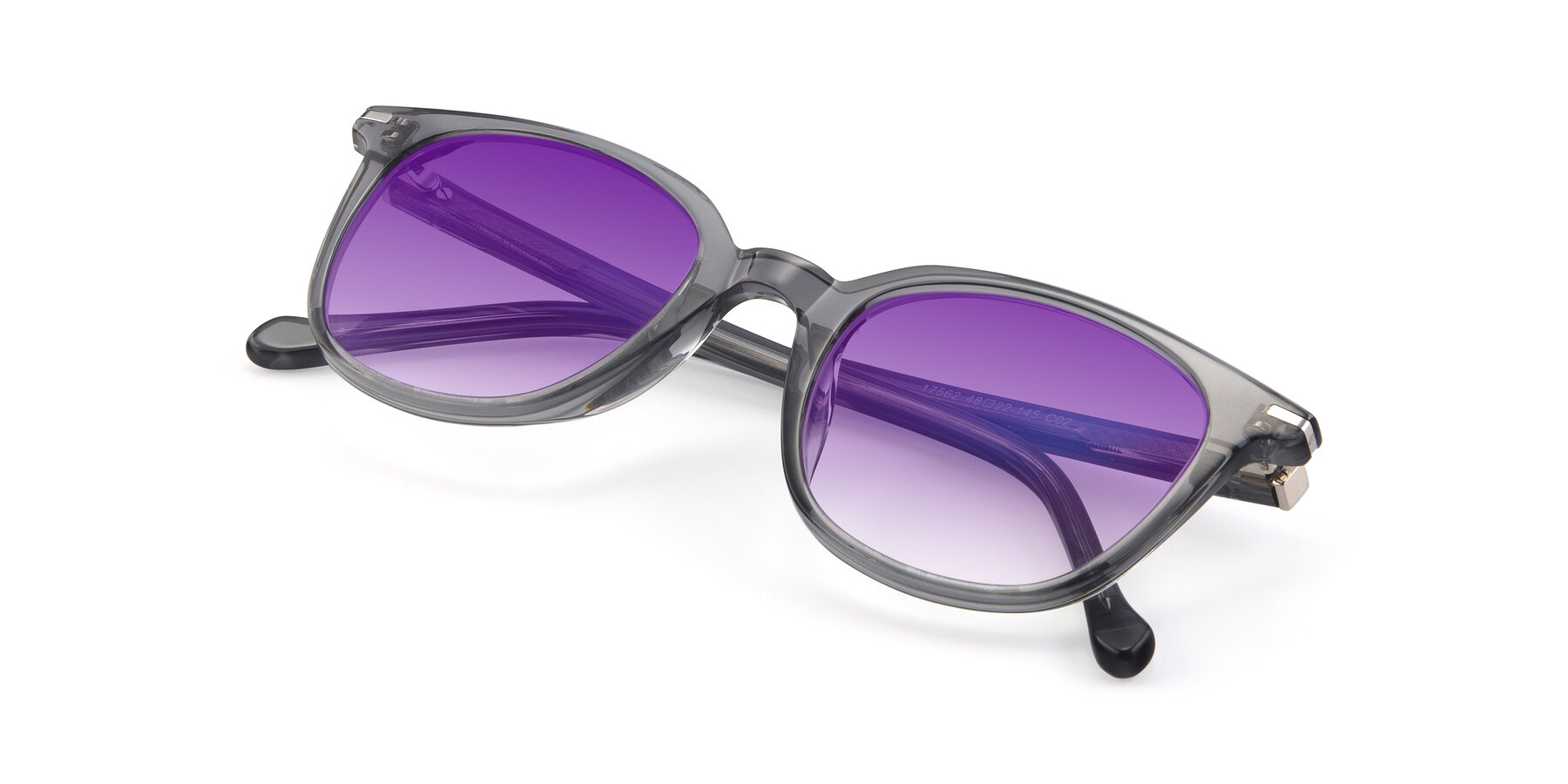 View of 17562 in Transparent Grey with Purple Gradient Lenses