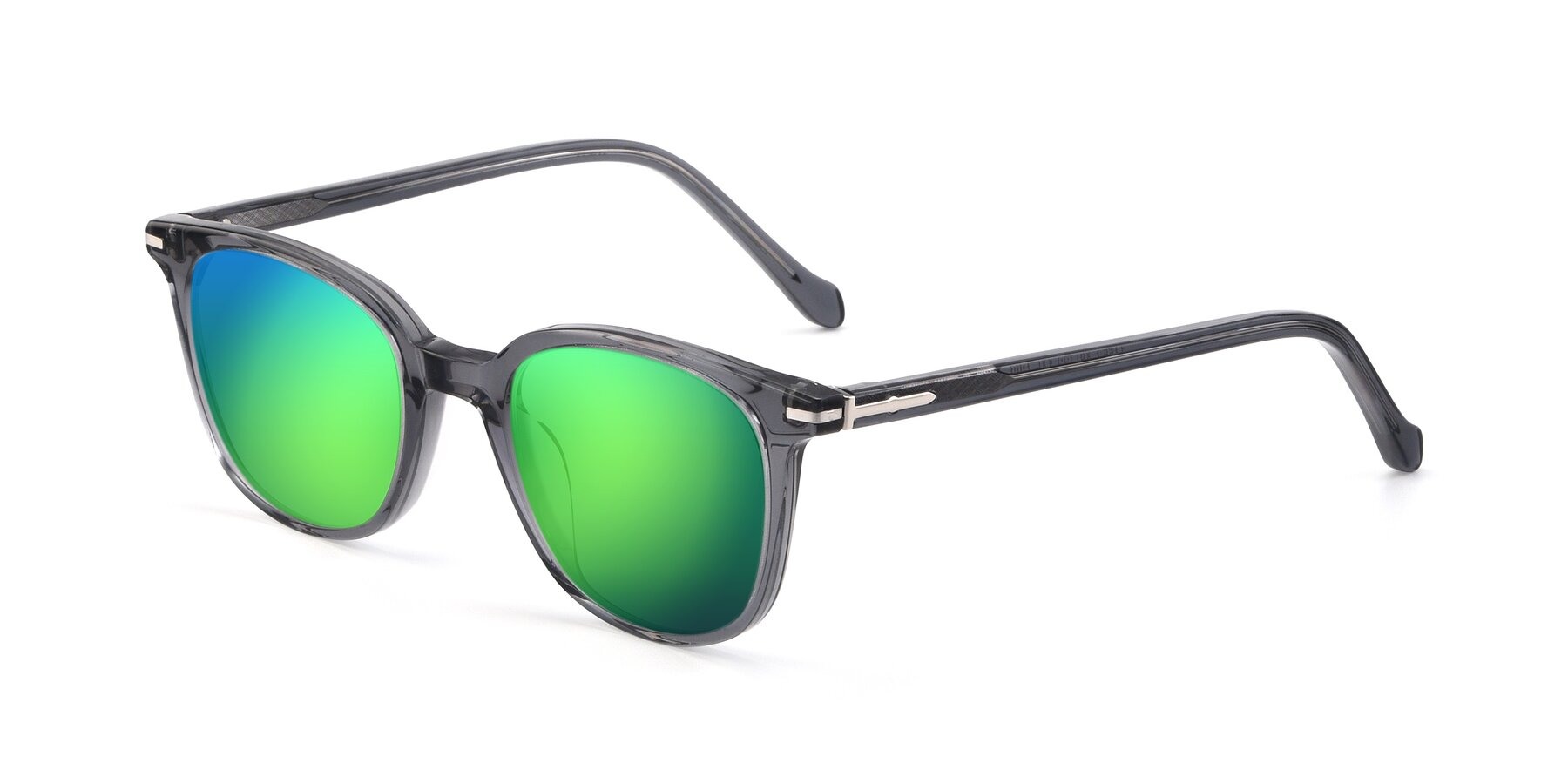 Angle of 17562 in Transparent Grey with Green Mirrored Lenses