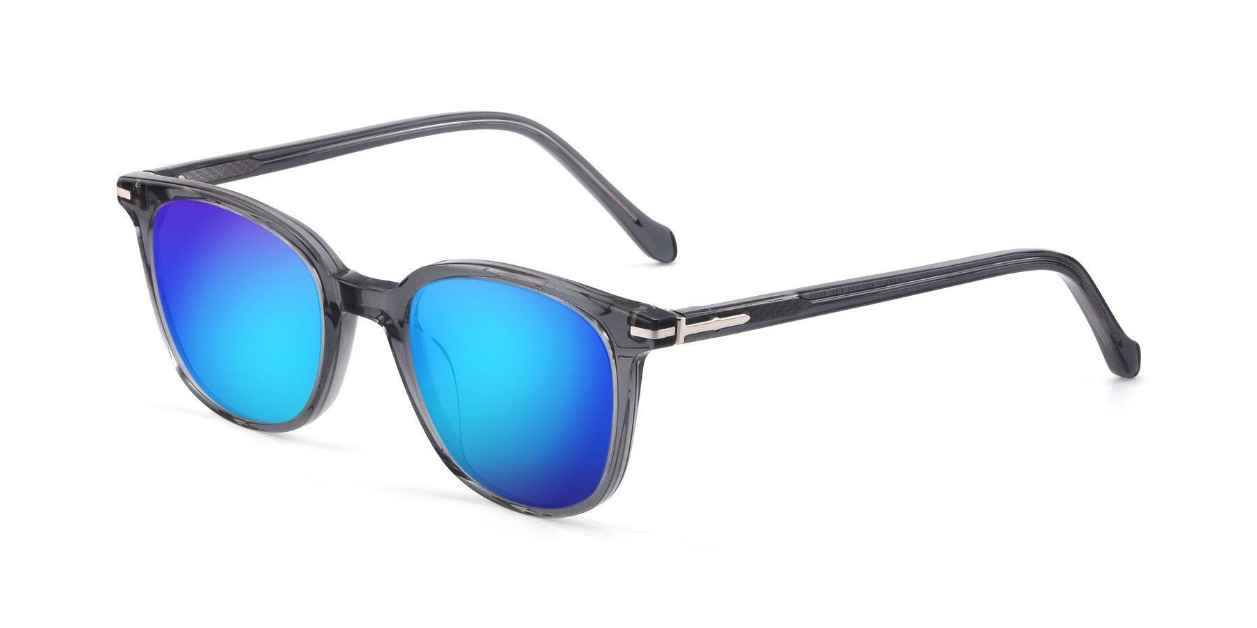 Angle of 17562 in Transparent Grey with Blue Mirrored Lenses