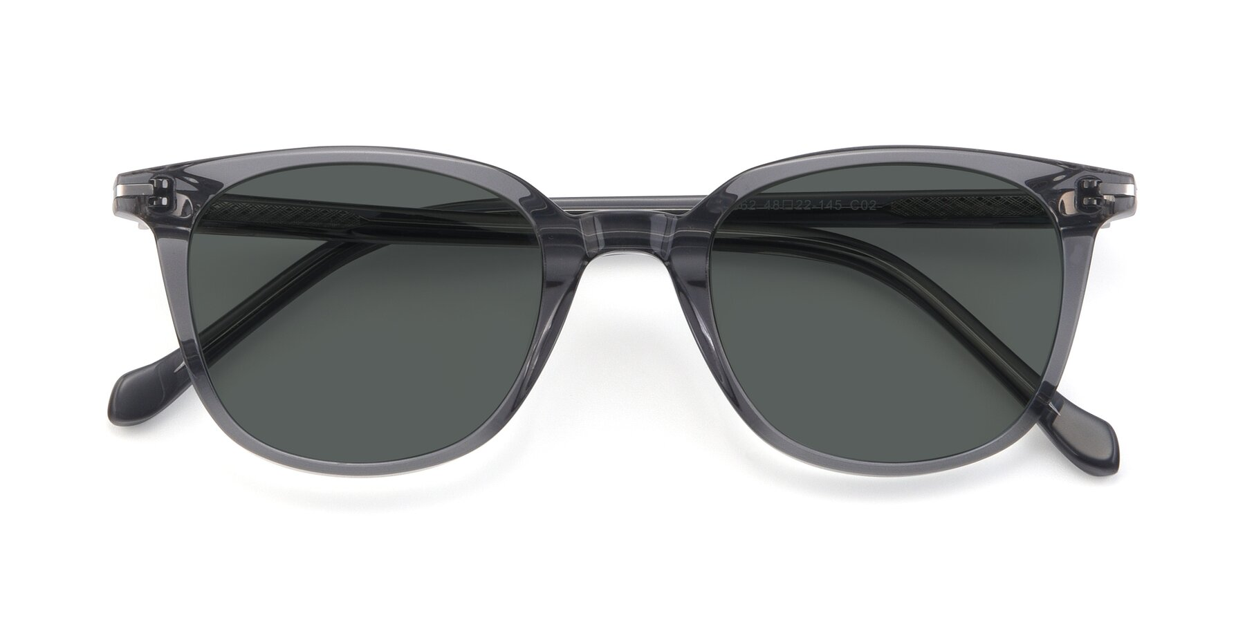 Folded Front of 17562 in Transparent Grey with Gray Polarized Lenses