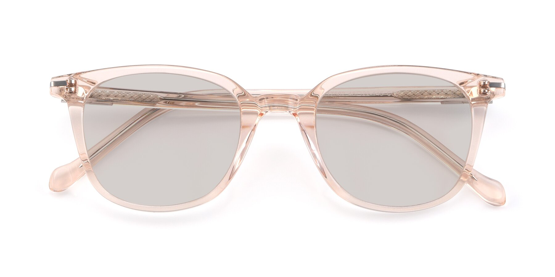 Folded Front of 17562 in Transparent Pink with Light Brown Tinted Lenses