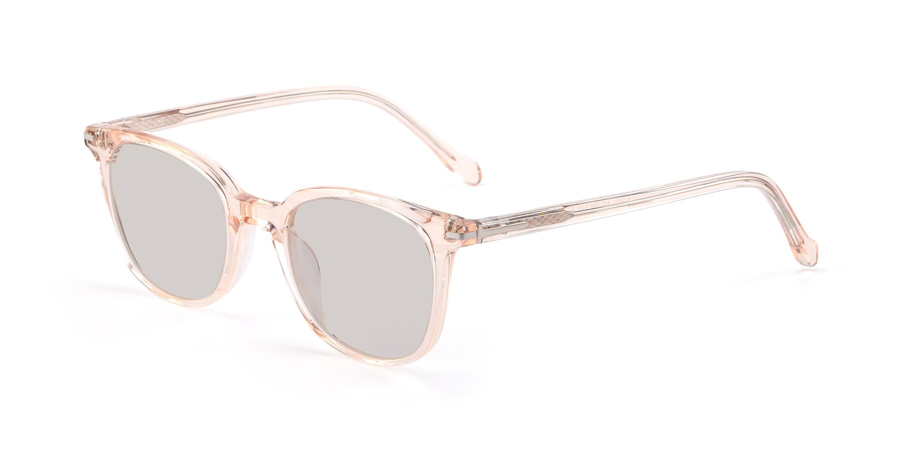 Angle of 17562 in Transparent Pink with Light Brown Tinted Lenses
