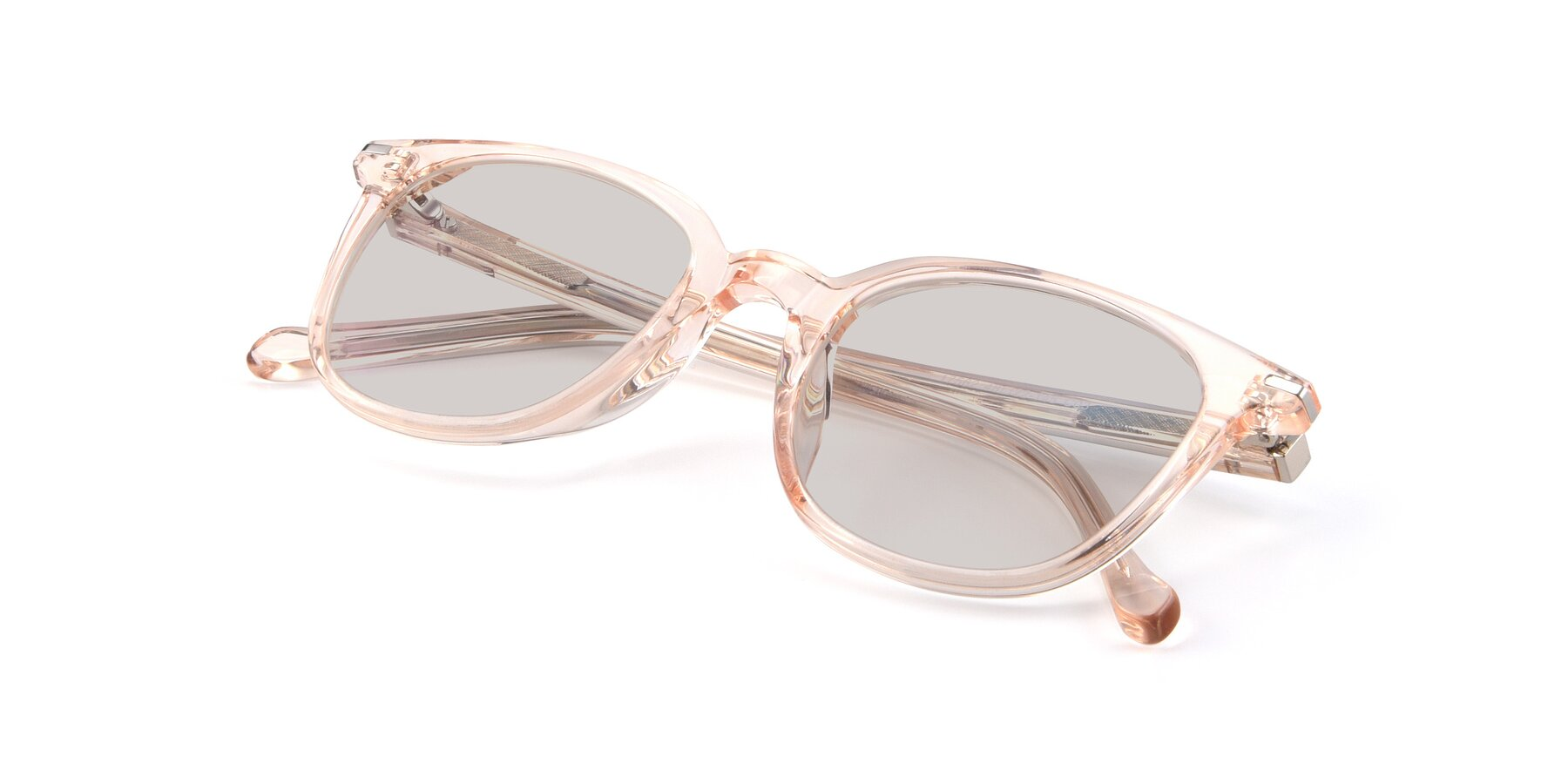 View of 17562 in Transparent Pink with Light Brown Tinted Lenses